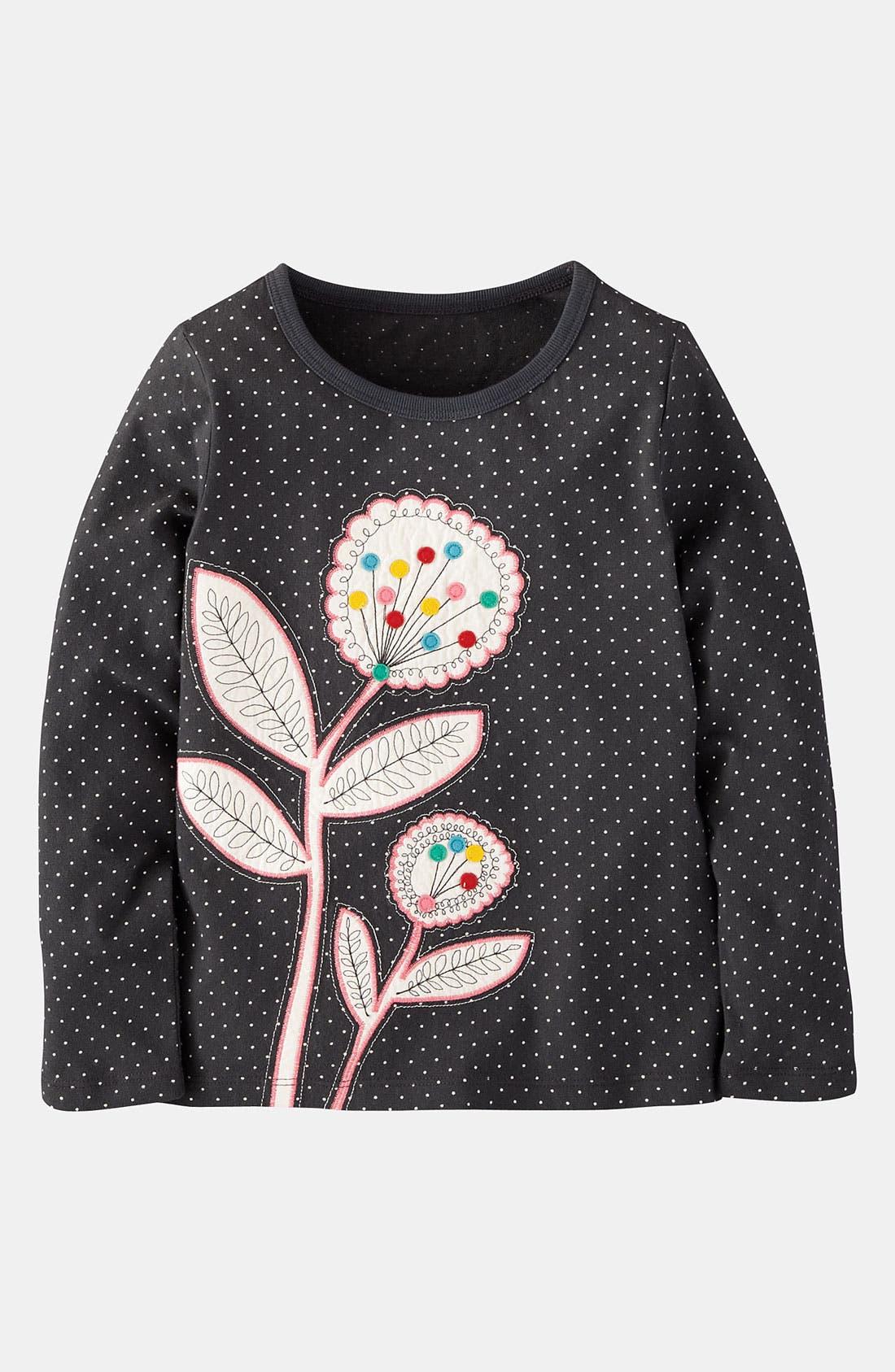 Alternate Image 1 Selected - Mini Boden 'Nordic Appliqué' Tee (Toddler, Little Girls & Big Girls)
