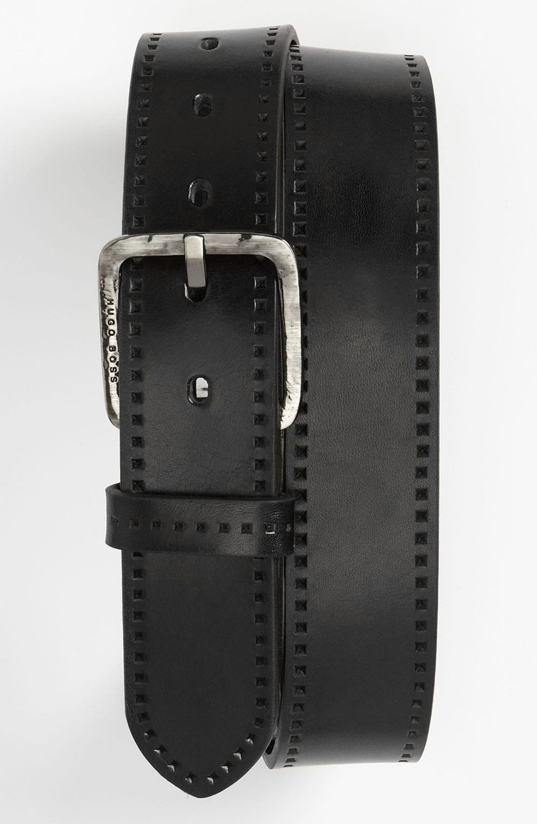 Alternate Image 1 Selected - BOSS Black 'Sigfrido' Leather Belt