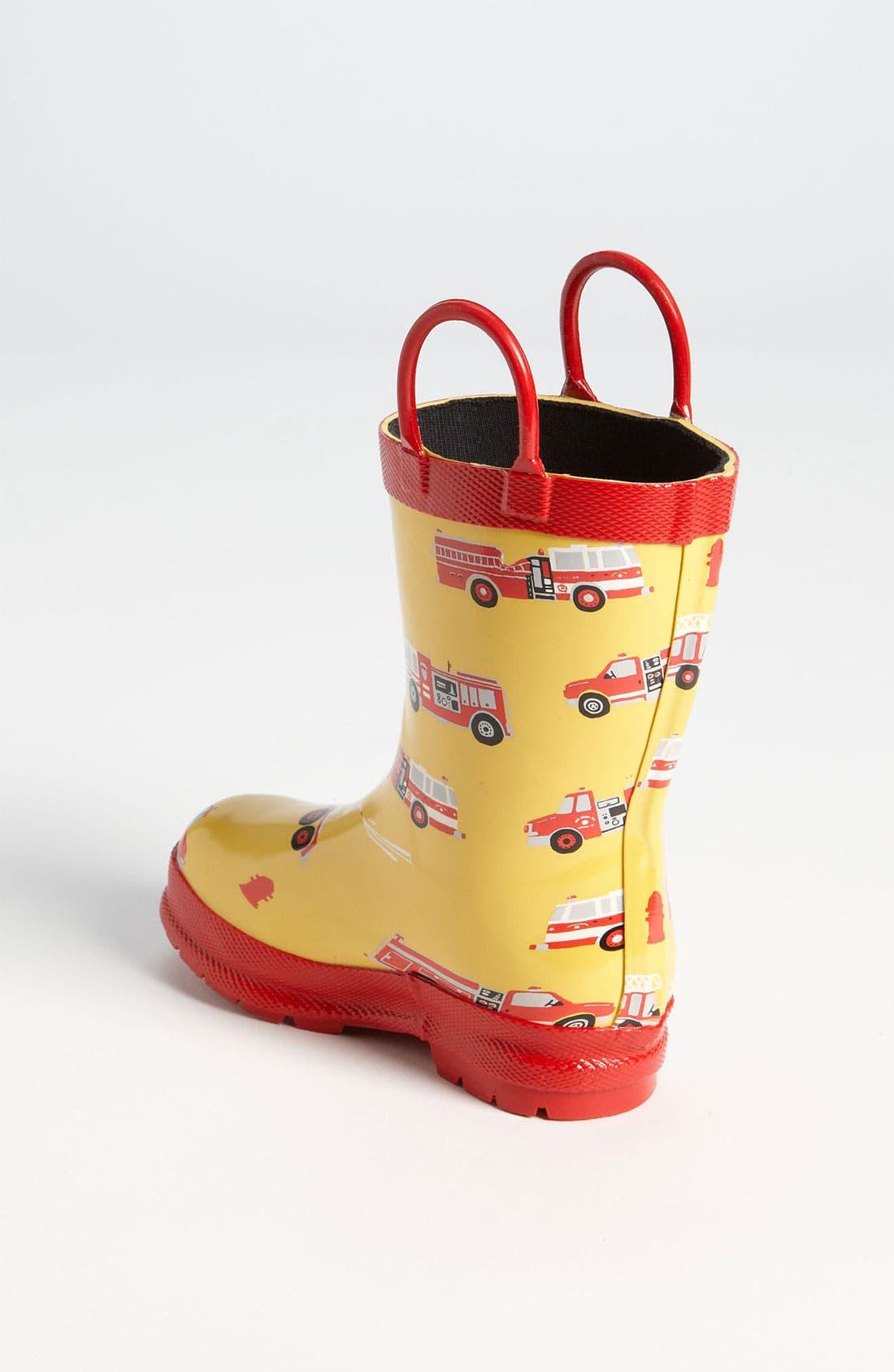 Alternate Image 2  - Hatley 'Fire Trucks' Rain Boot (Walker, Toddler & Little Kid)