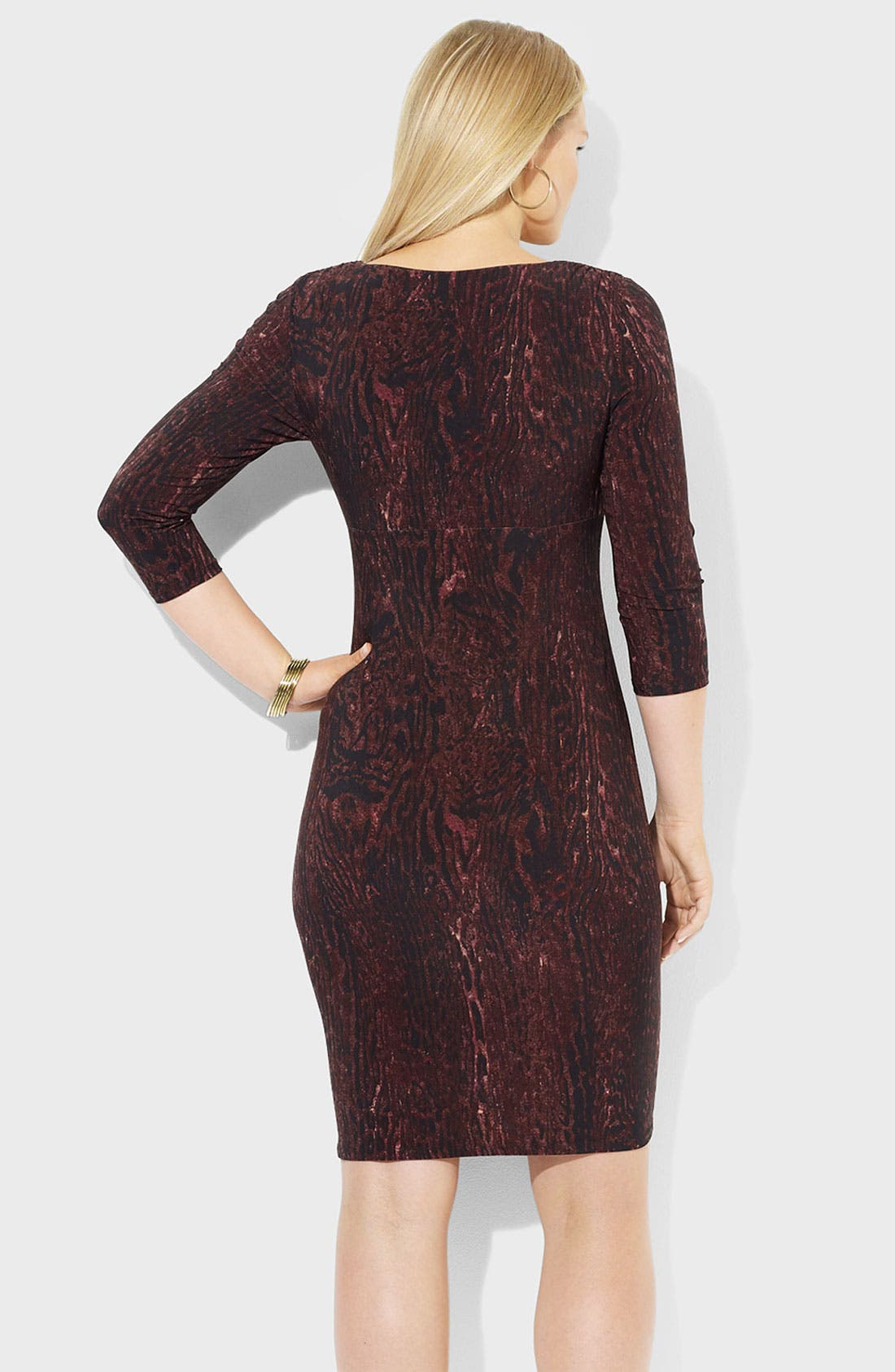 Alternate Image 2  - Lauren Ralph Lauren Jersey Sheath Dress (Plus)
