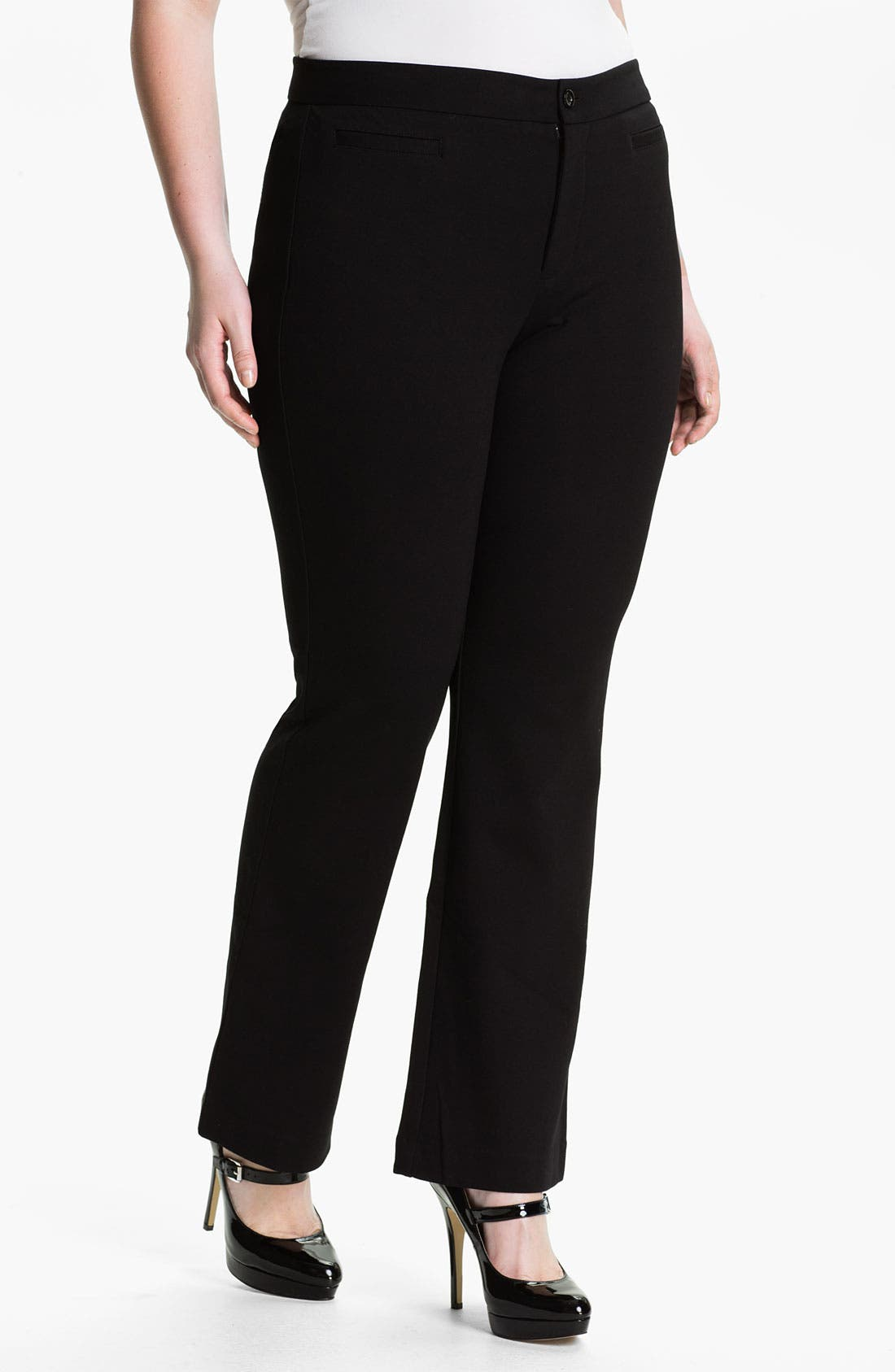 Alternate Image 1 Selected - NYDJ Ponte Knit Trousers (Plus)