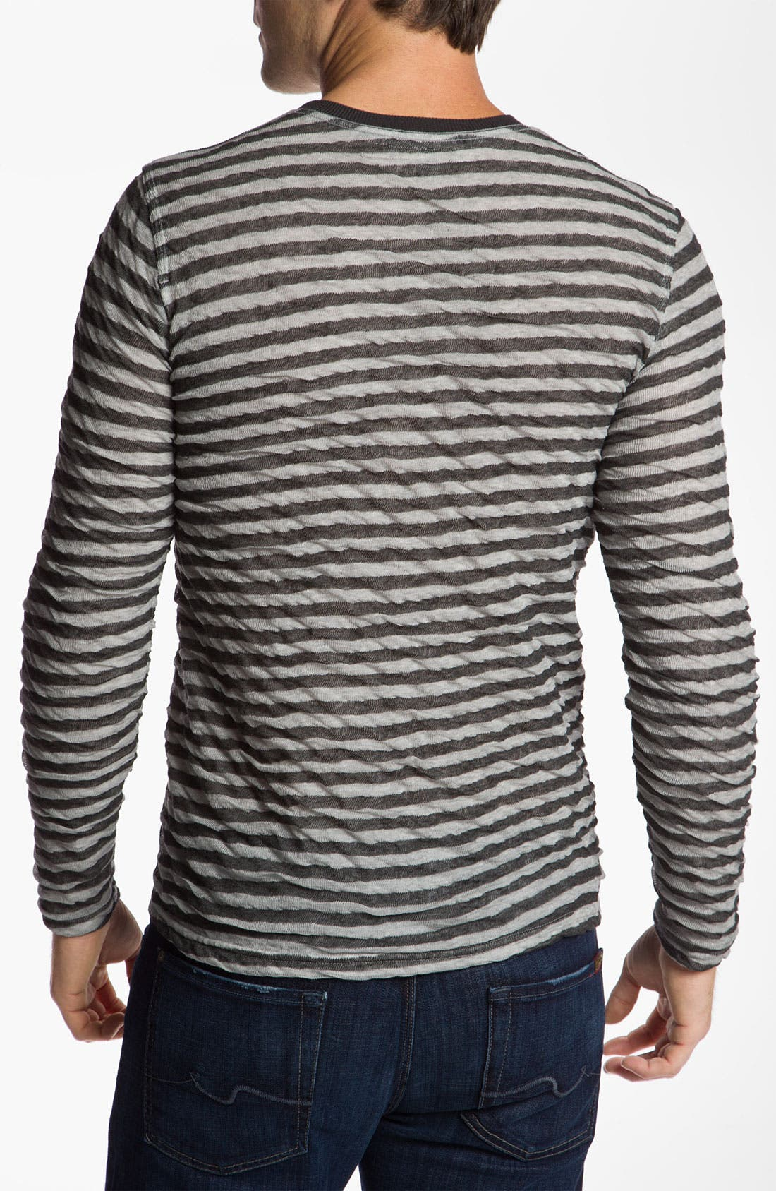 Alternate Image 2  - 7 For All Mankind® Crinkle Striped Shirt
