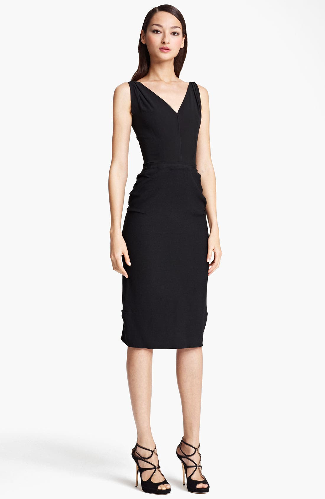 Alternate Image 1 Selected - Nina Ricci Silk & Wool Crepe Dress