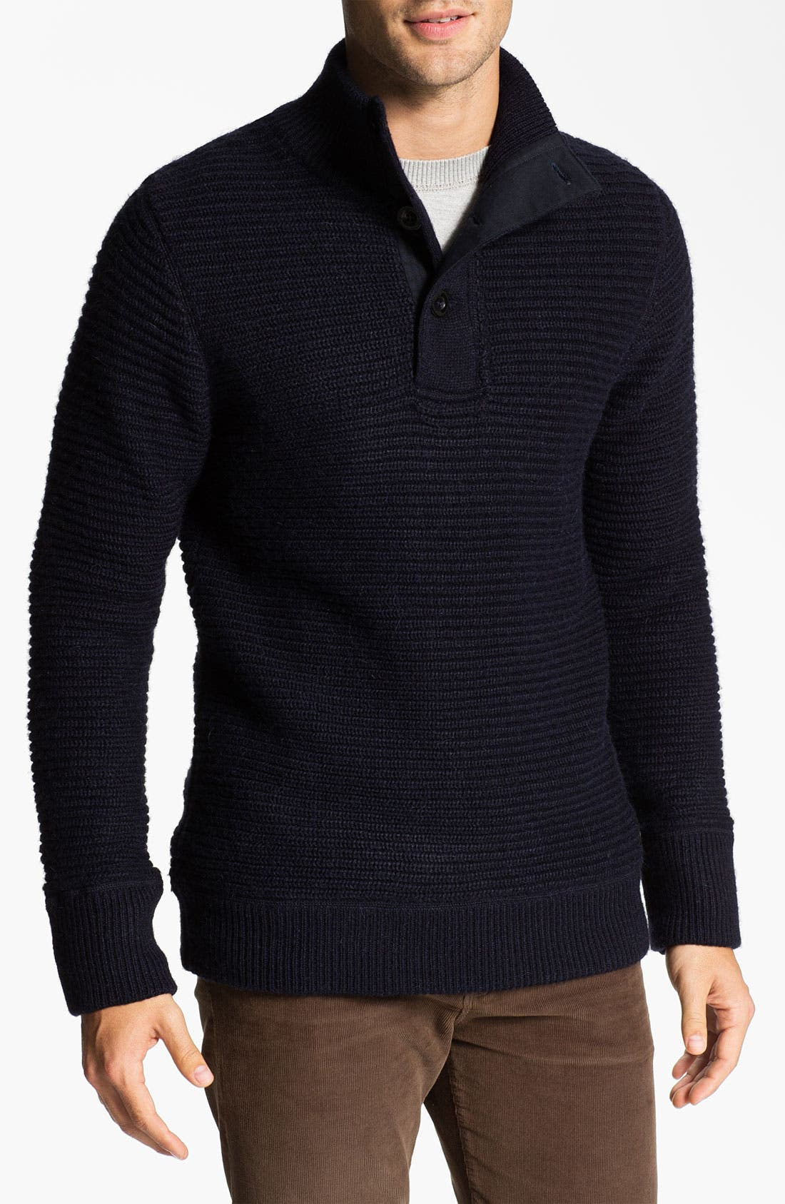Main Image - Relwen Mock Neck Alpaca Blend Sweater