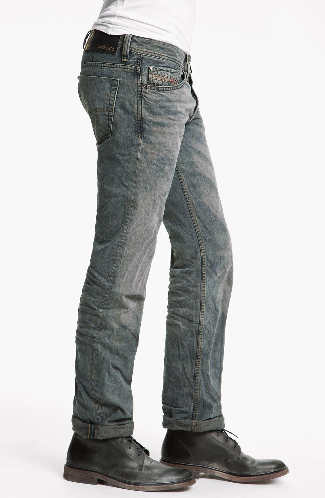 Alternate Image 3  - DIESEL® 'Viker' Straight Leg Jeans (0807C)