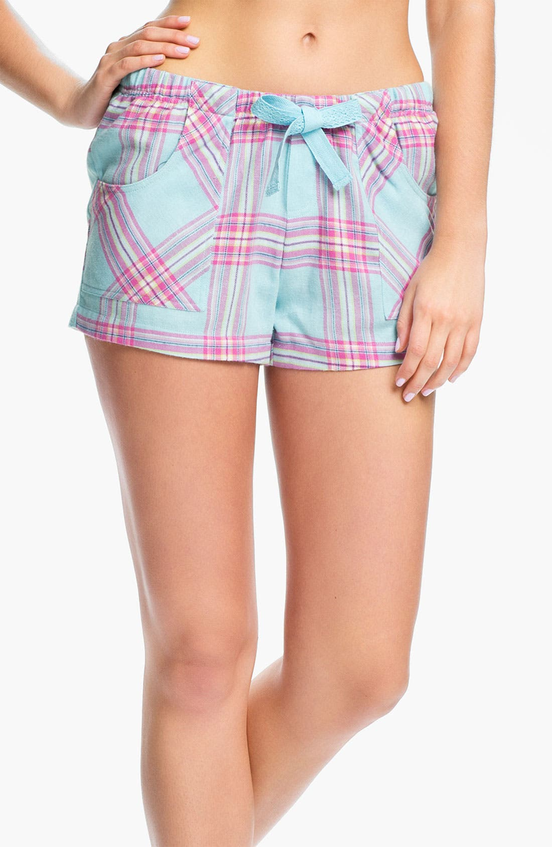 Alternate Image 1 Selected - Make + Model 'Cozy Time' Flannel Boxer Shorts