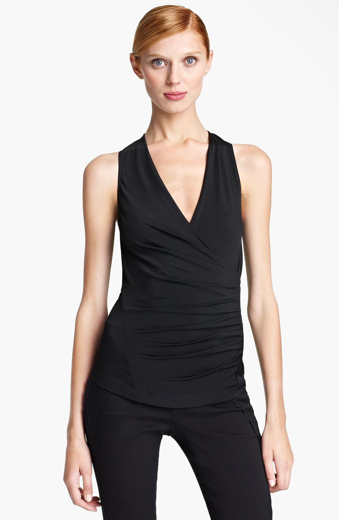 Main Image - Donna Karan Collection Side Drape Jersey Top