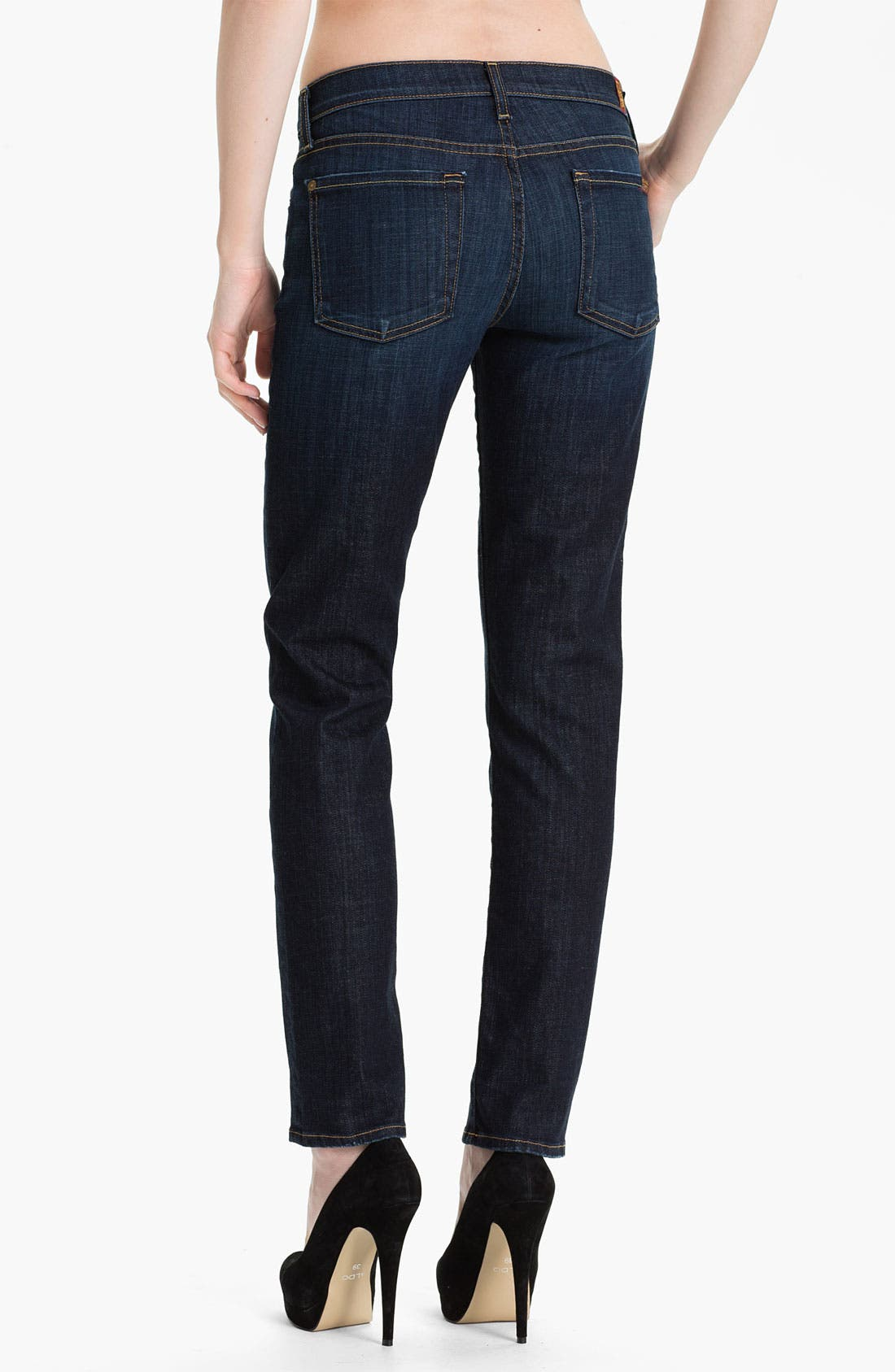 Alternate Image 2  - 7 For All Mankind® 'The Slim Cigarette' Stretch Jeans (Los Angeles)