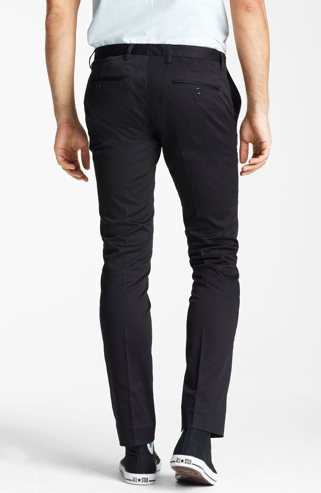 Alternate Image 2  - Topman Ultra Skinny Flat Front Trousers