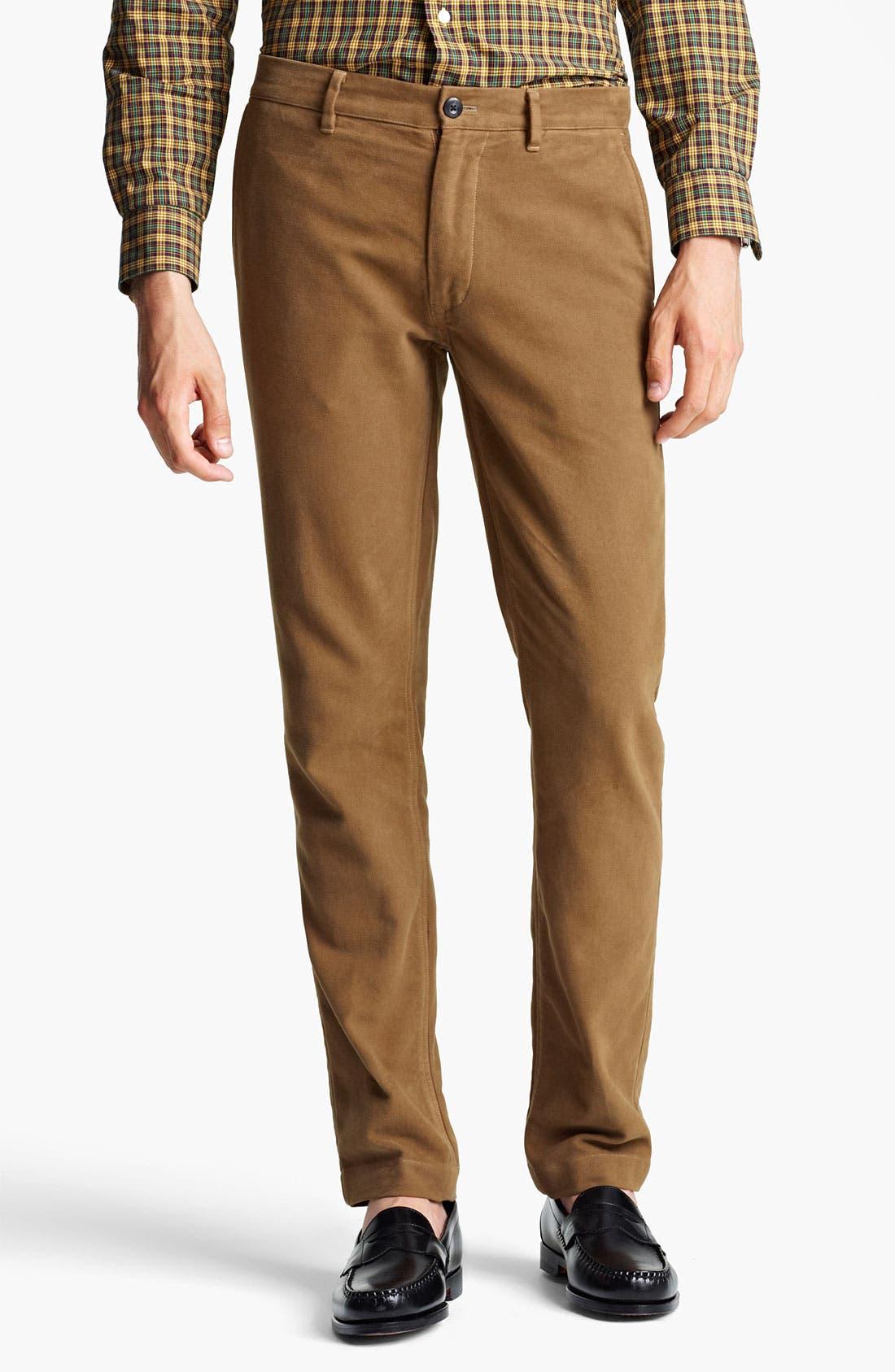 Alternate Image 1 Selected - Jack Spade 'Dwight' Moleskin Cotton Trousers