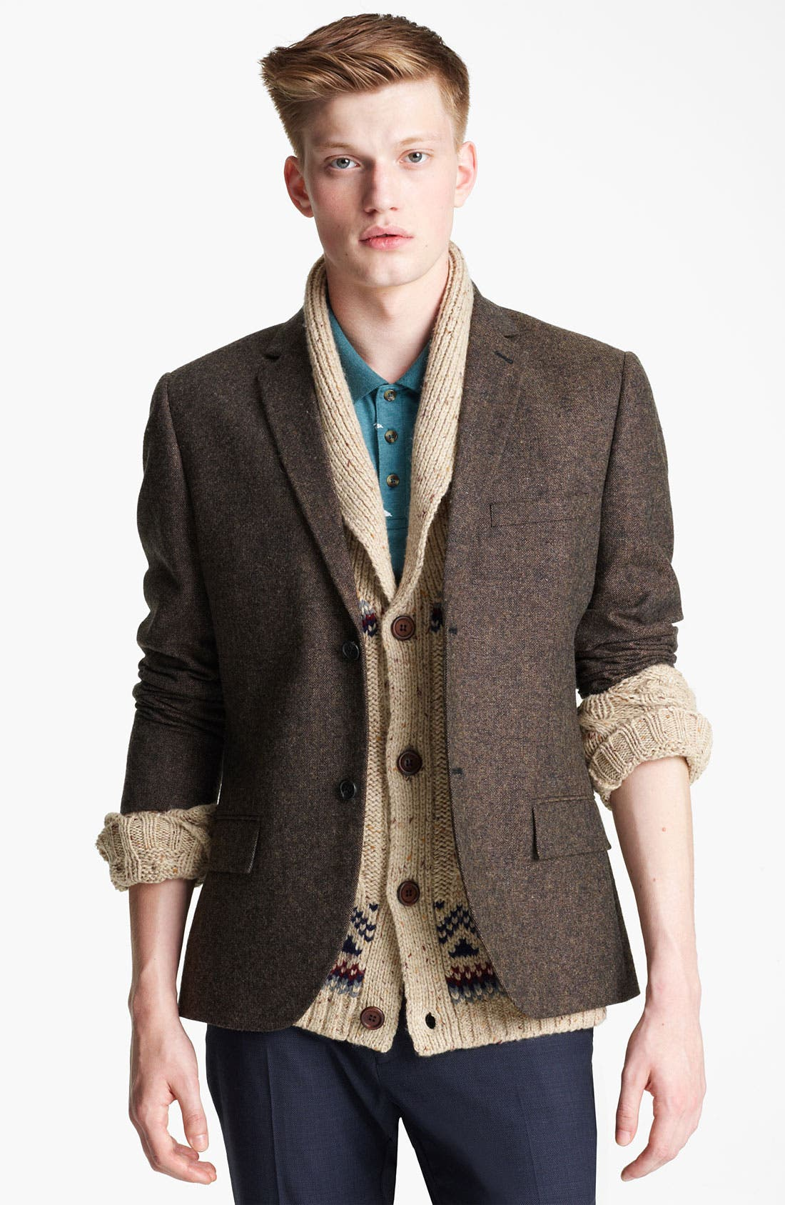 Main Image - Topman 'Lazio' Donegal Heritage Blazer