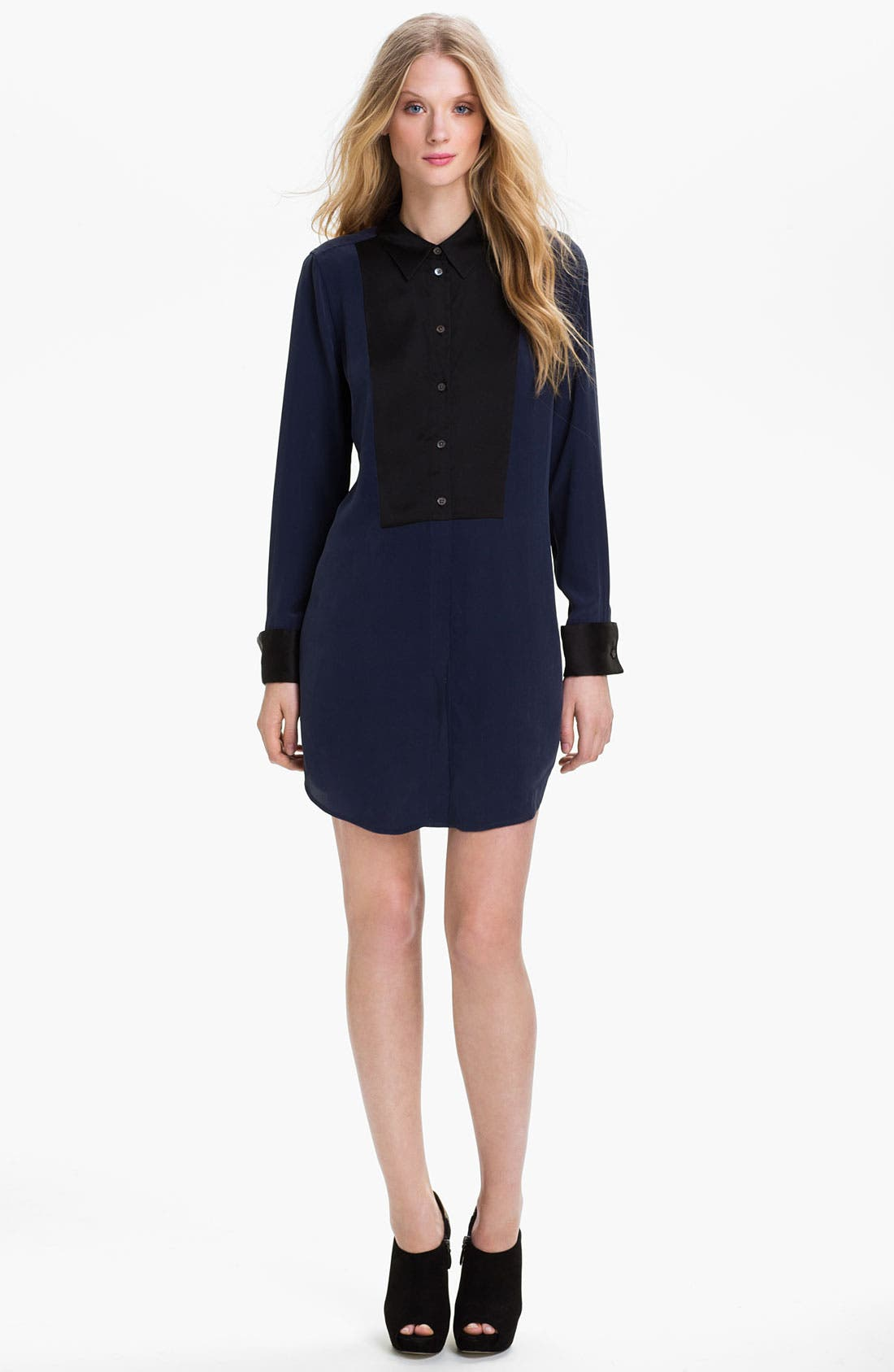Main Image - Equipment Colorblock Silk Shirtdress