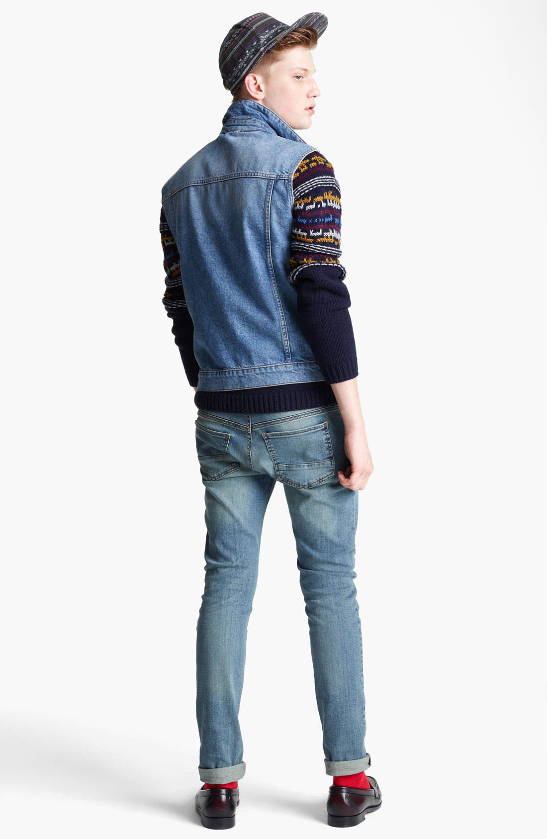 Alternate Image 5  - Topman Denim Vest
