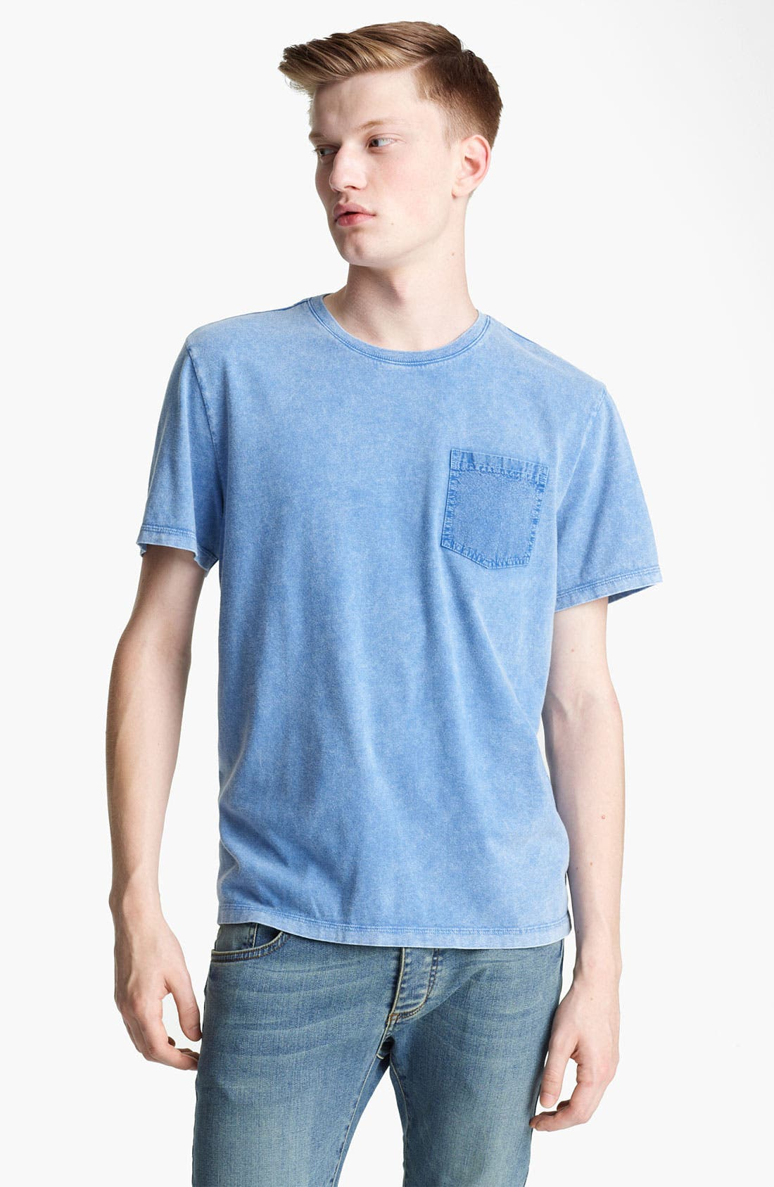 Main Image - Topman Washed Cotton Pocket T-Shirt