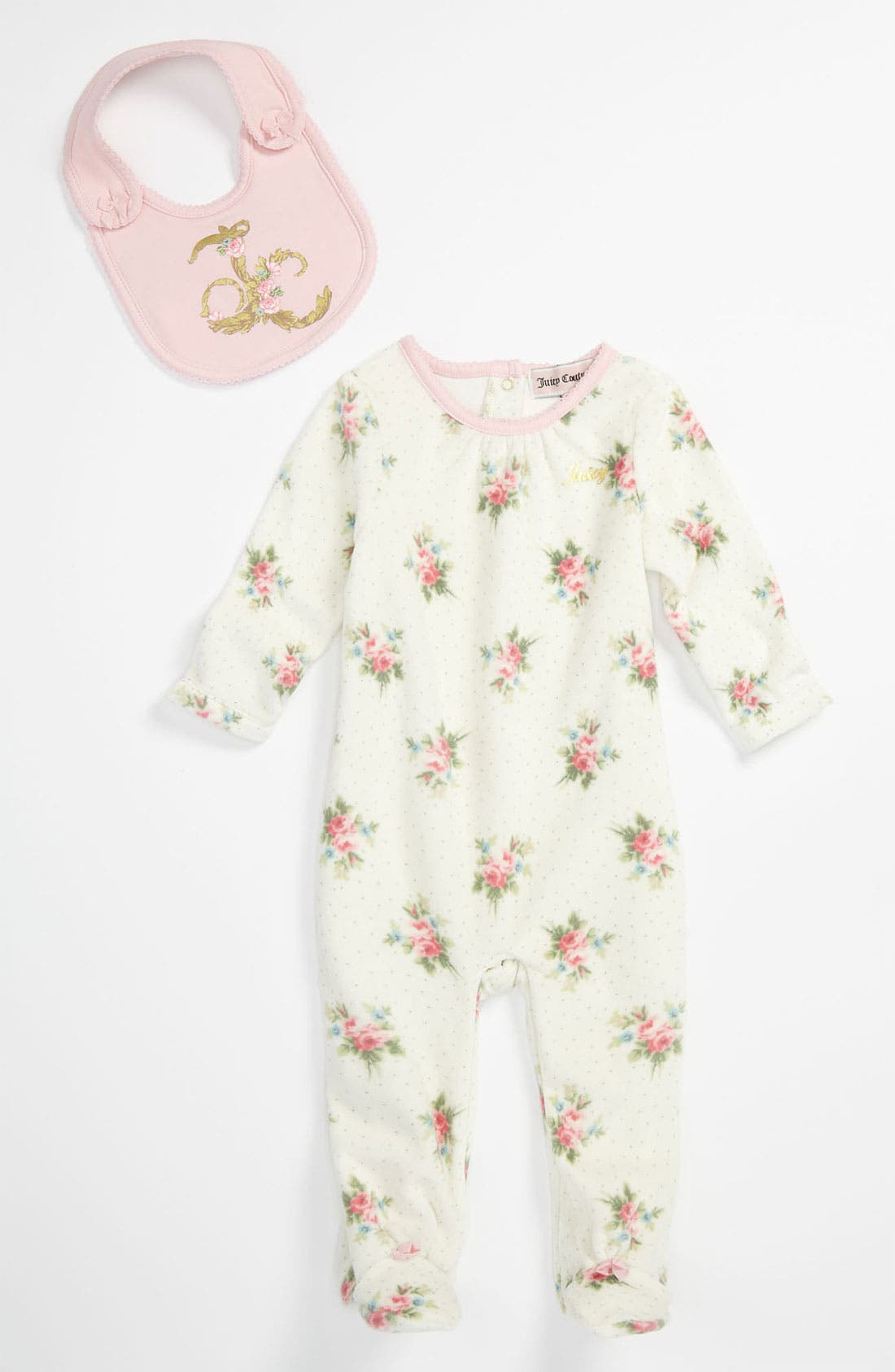 Main Image - Juicy Couture Velour Footie (Infant)