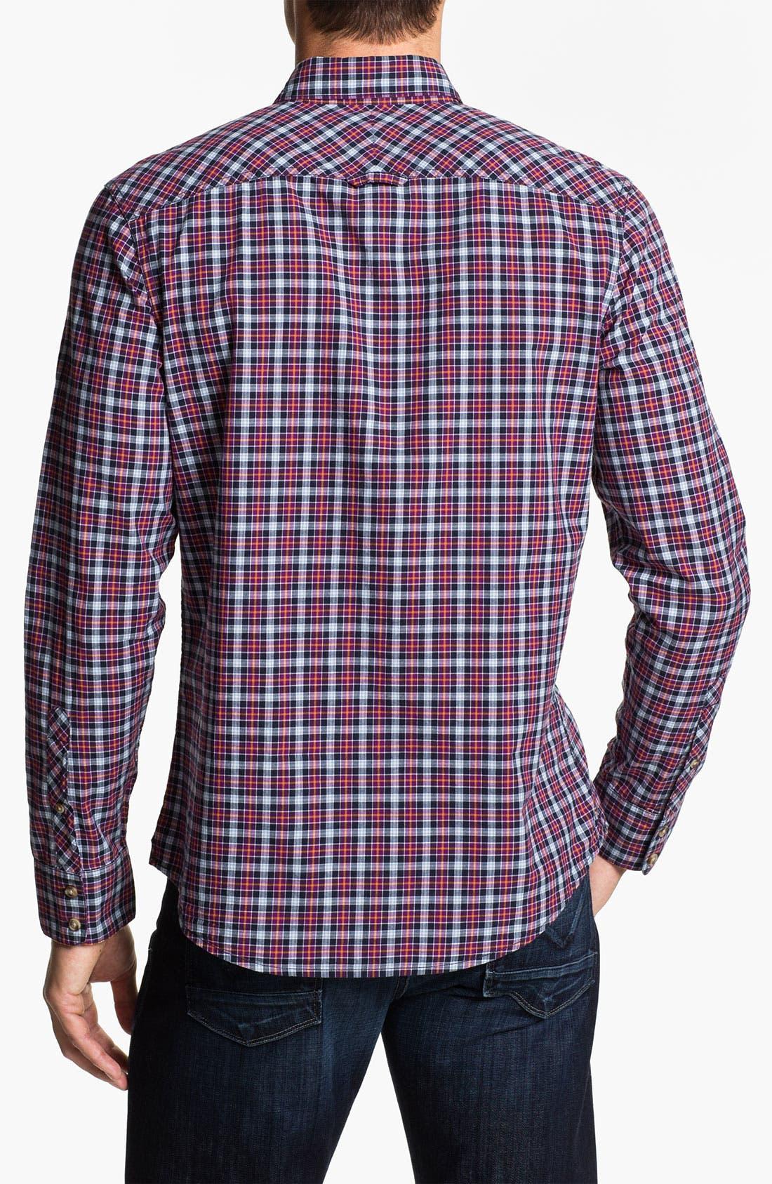 Alternate Image 2  - 1901 Plaid Cotton Poplin Shirt