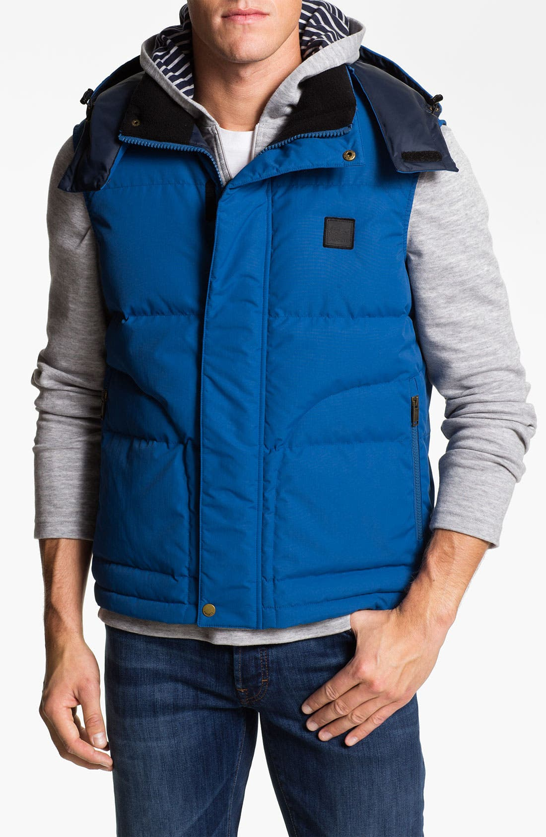Main Image - Lacoste Zip Hooded Vest