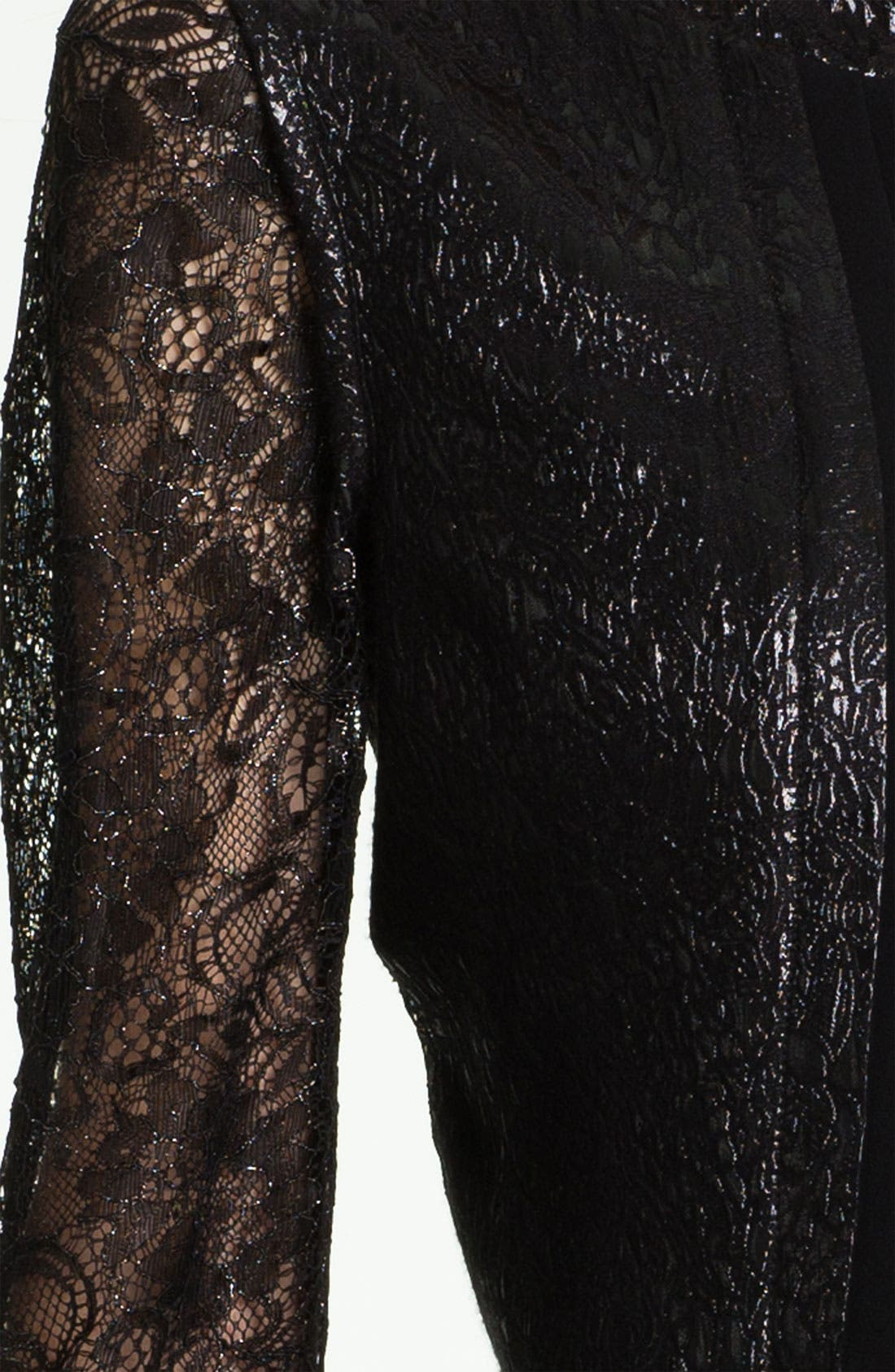 Alternate Image 4  - Tahari Sleeveless Sheath Dress & Metallic Lace Jacket