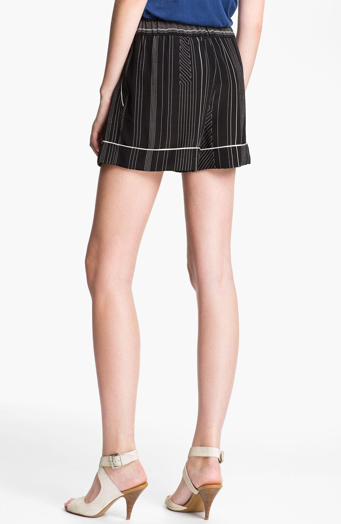 Alternate Image 2  - 3.1 Phillip Lim Stripe Silk Shorts