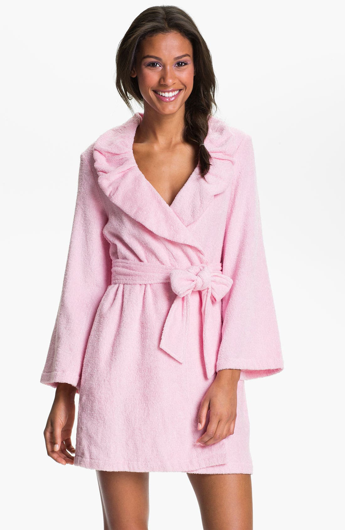 Alternate Image 2  - Betsey Johnson Printed Terry Robe
