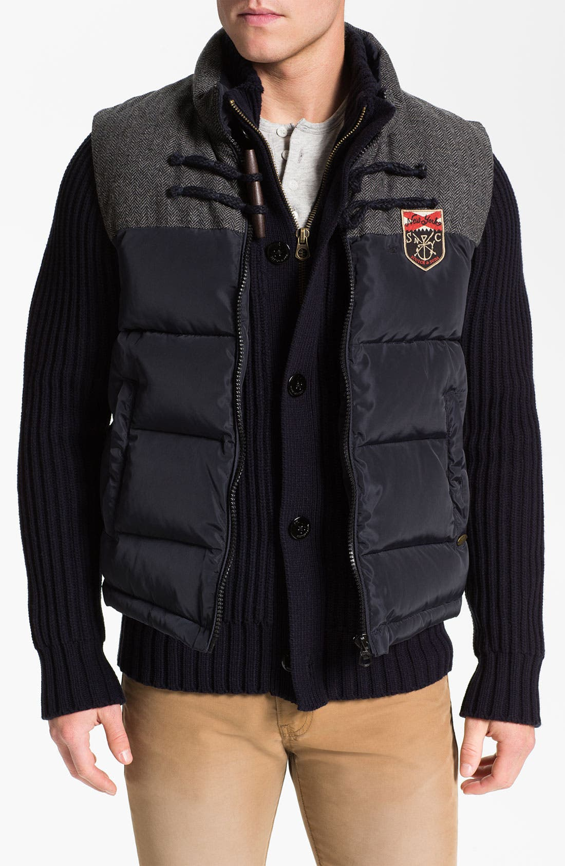 Main Image - Scotch & Soda Sweater & Vest Combo