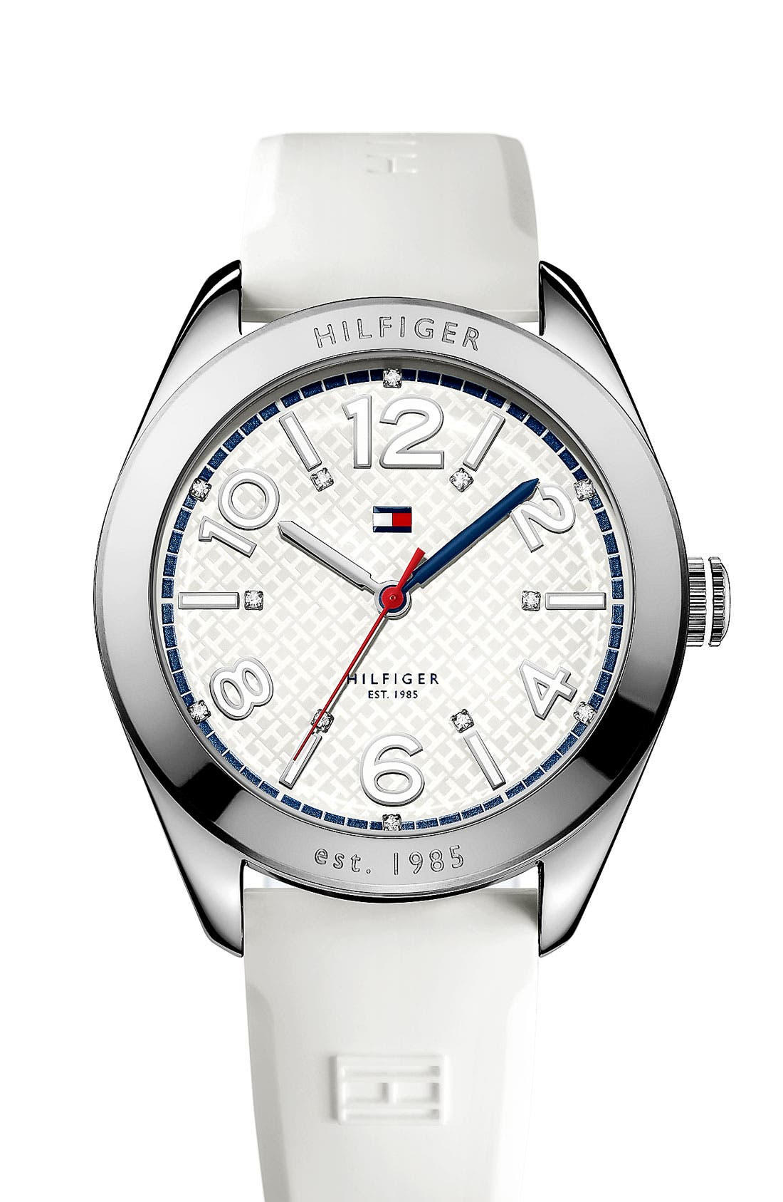 Alternate Image 1 Selected - Tommy Hilfiger 'Sport' Round Silicone Strap Watch, 40mm