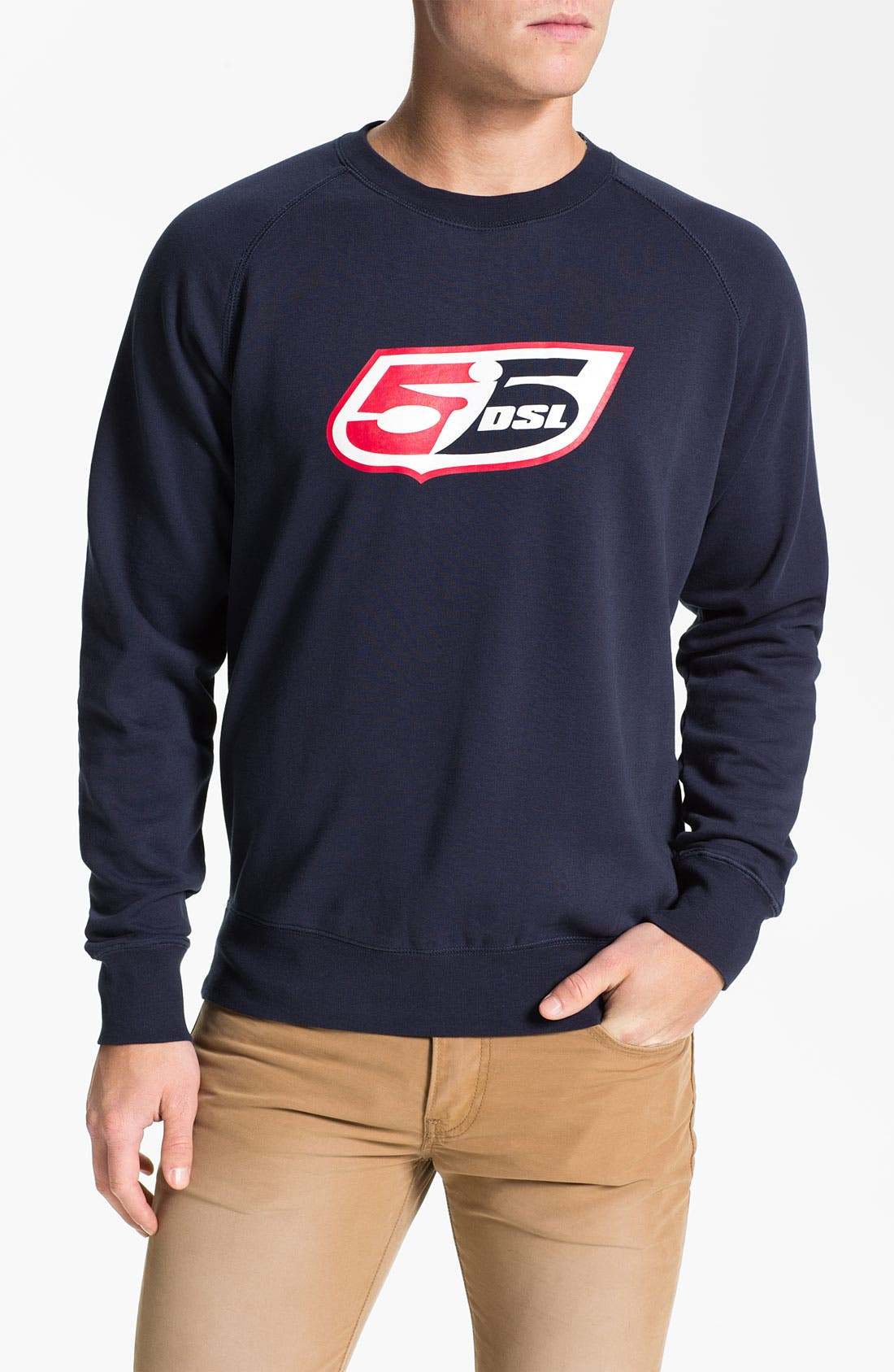 Alternate Image 1 Selected - 55DSL 'F Logo' Crewneck Sweatshirt