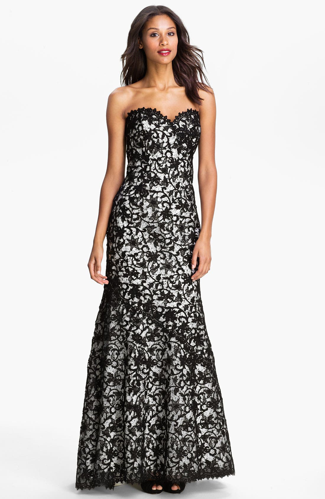 Alternate Image 1 Selected - Veni Infantino Strapless Lace Trumpet Gown