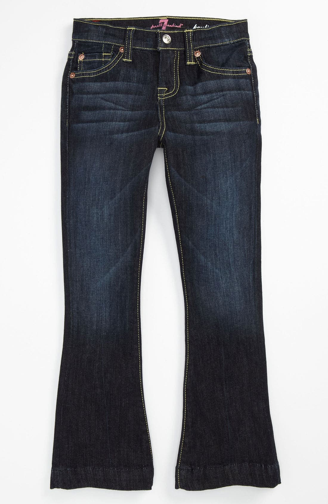 Alternate Image 2  - 7 For All Mankind® 'Kaylie' Slim Fit Bootcut Jeans (Little Girls)