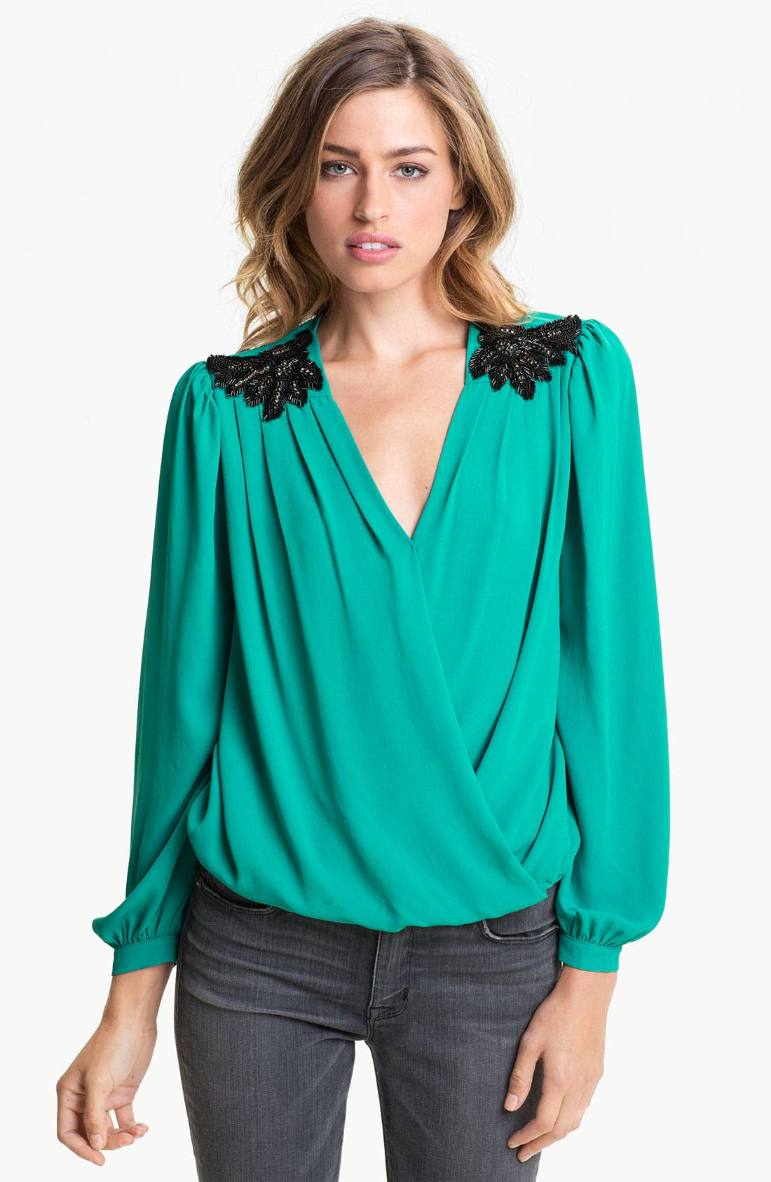 Alternate Image 1 Selected - Bellatrix Drape Front Blouse