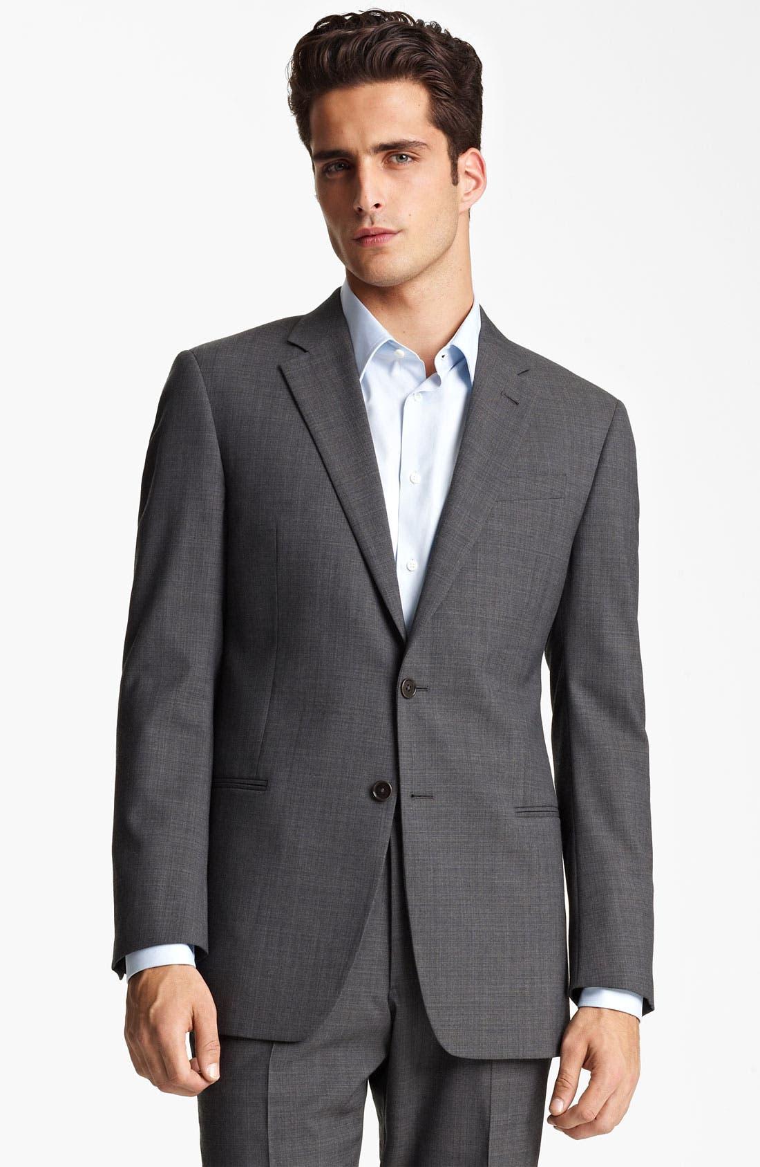 Main Image - Armani Collezioni Trim Fit Wool Blend Suit