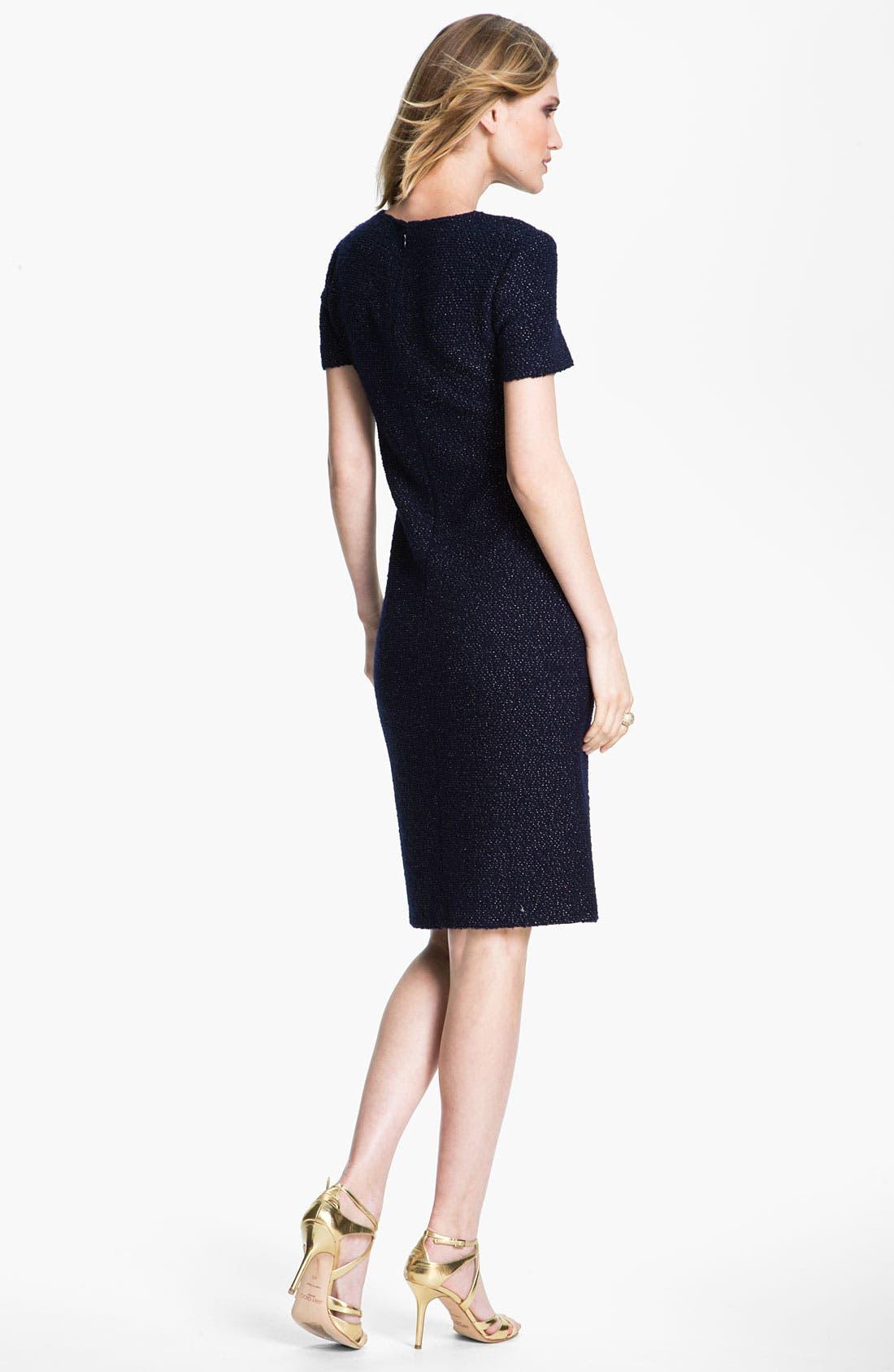 Alternate Image 3  - St. John Collection Shimmer Bouclette Dress