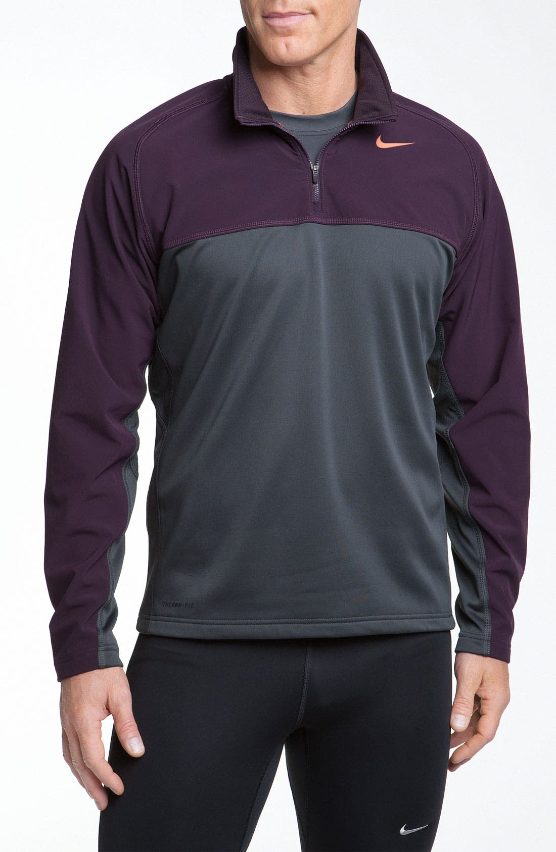 Alternate Image 1 Selected - Nike 'Shield' Therma-FIT Fleece Quarter Zip Top