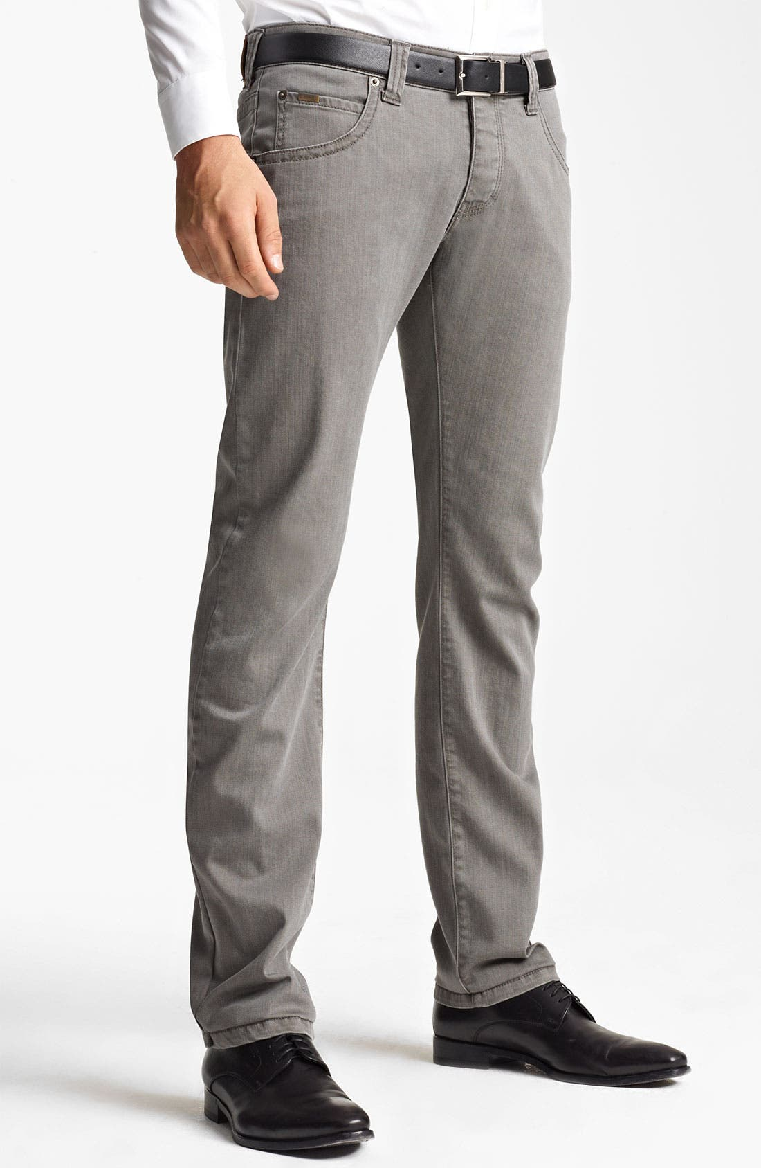 Alternate Image 1 Selected - Armani Collezioni Slim Fit Jeans (Brown Multi)