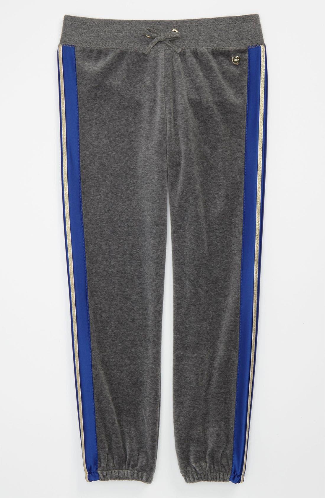 Alternate Image 1 Selected - Juicy Couture Metallic Stripe Pants (Little Girls & Big Girls)