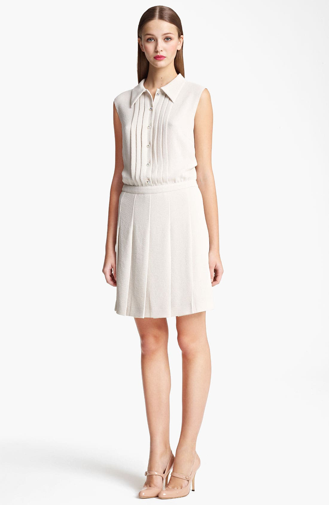 Alternate Image 1 Selected - Moschino Cheap & Chic Pleated Shirtdress