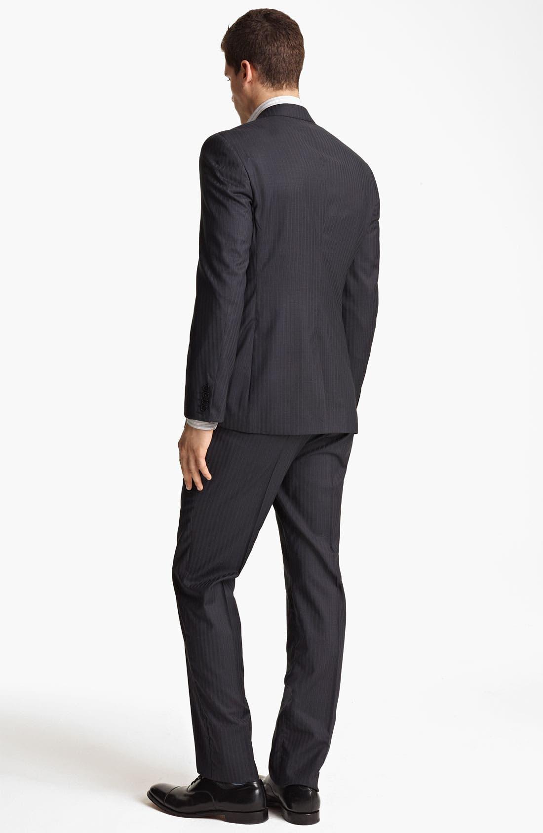 Alternate Image 3  - Versace Trim Fit Stripe Suit