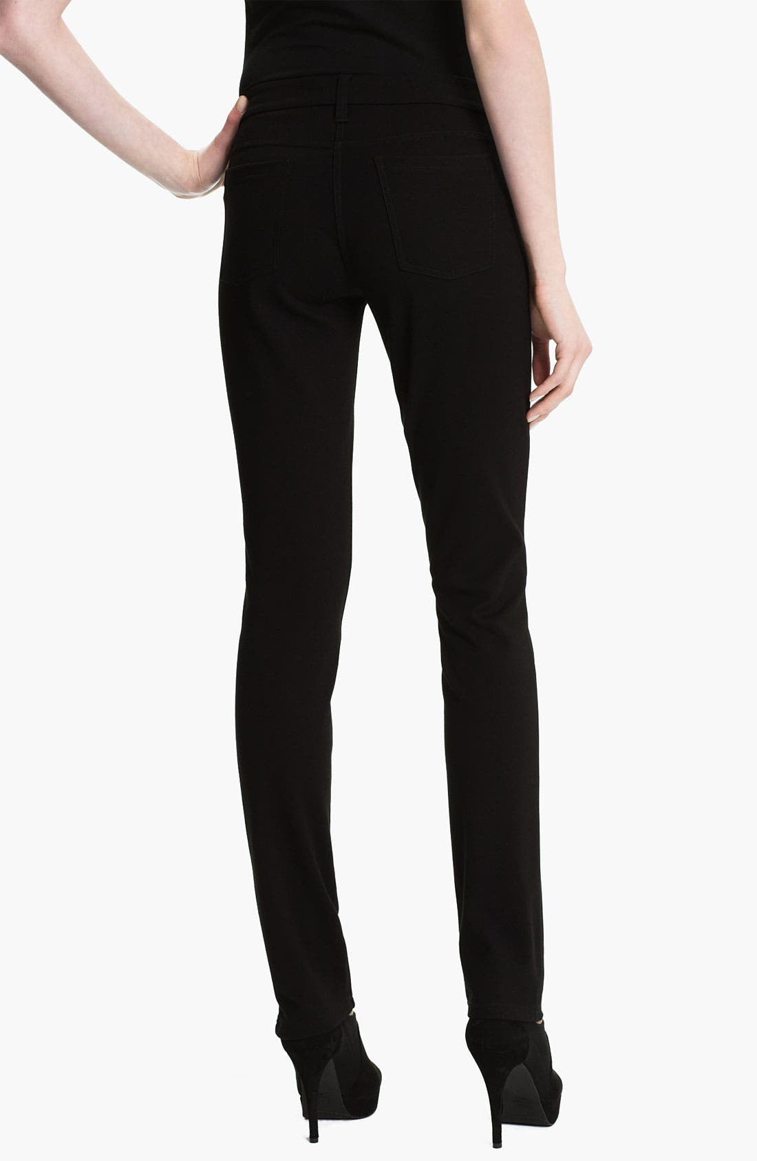 Alternate Image 2  - Eileen Fisher 'Rock Star' Stretch Ponte Jeans (Regular & Petite)