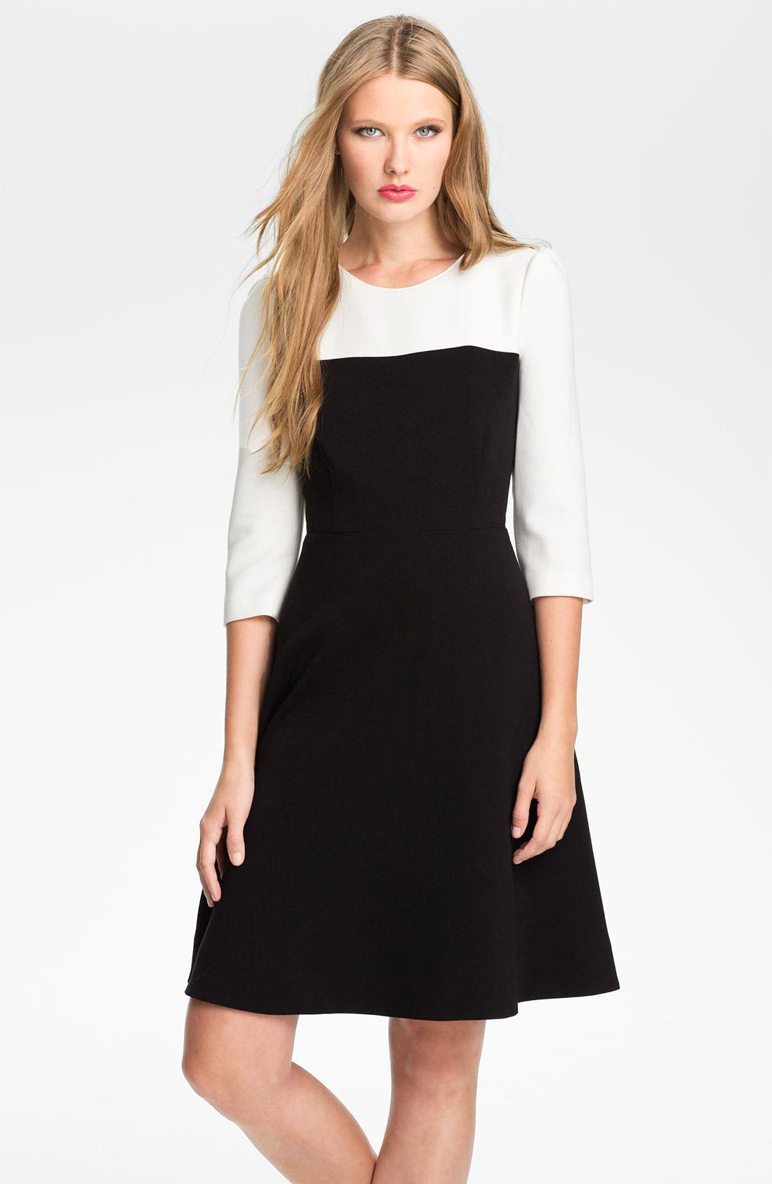 Main Image - kate spade new york 'olsen' colorblock fit & flare dress