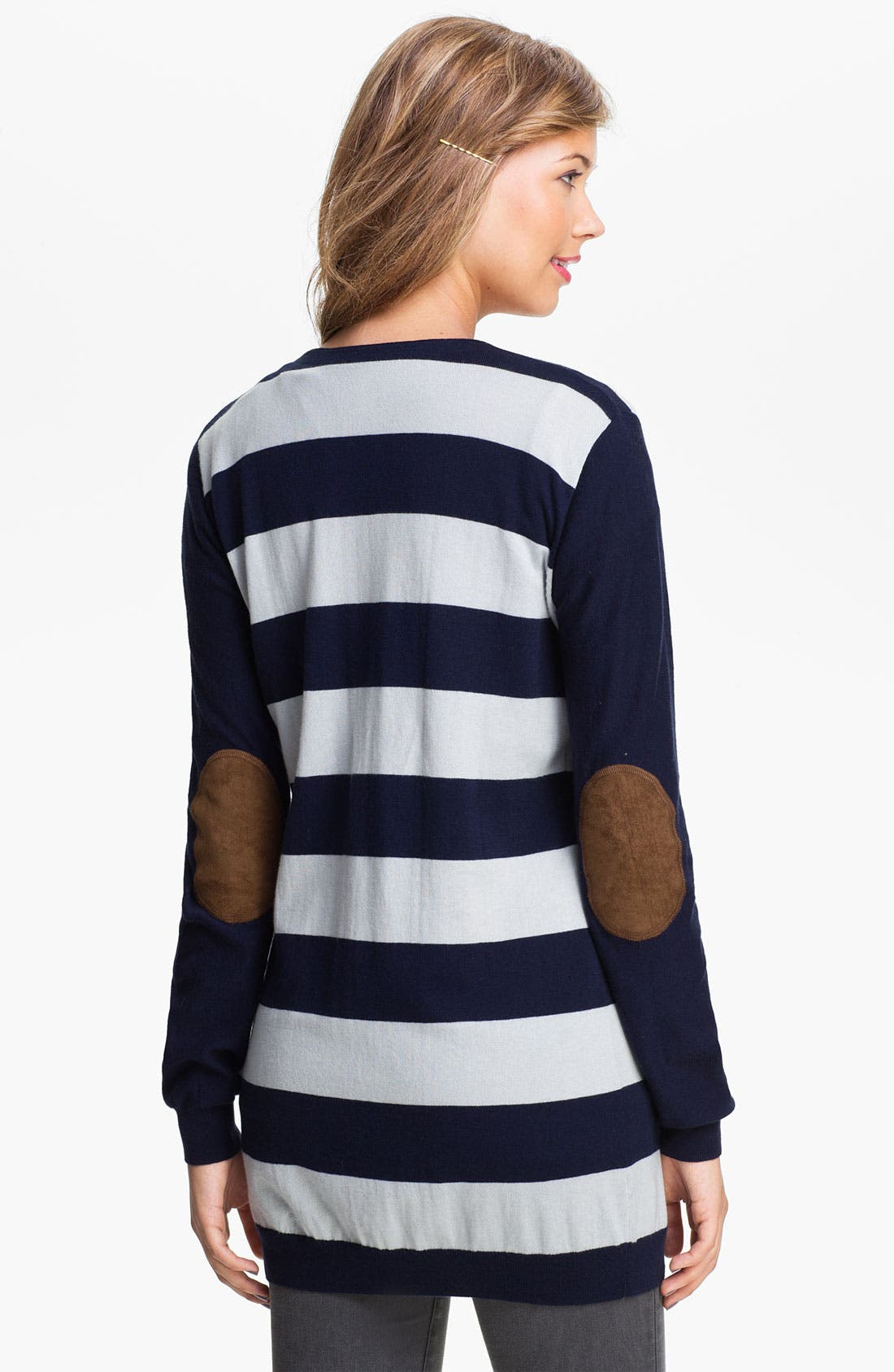 Alternate Image 2  - BP. Rugby Stripe Cardigan (Juniors)