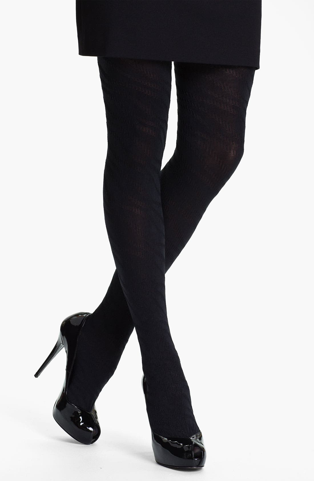 Alternate Image 1 Selected - Calvin Klein 'Whip Stitch Ribbons' Tights