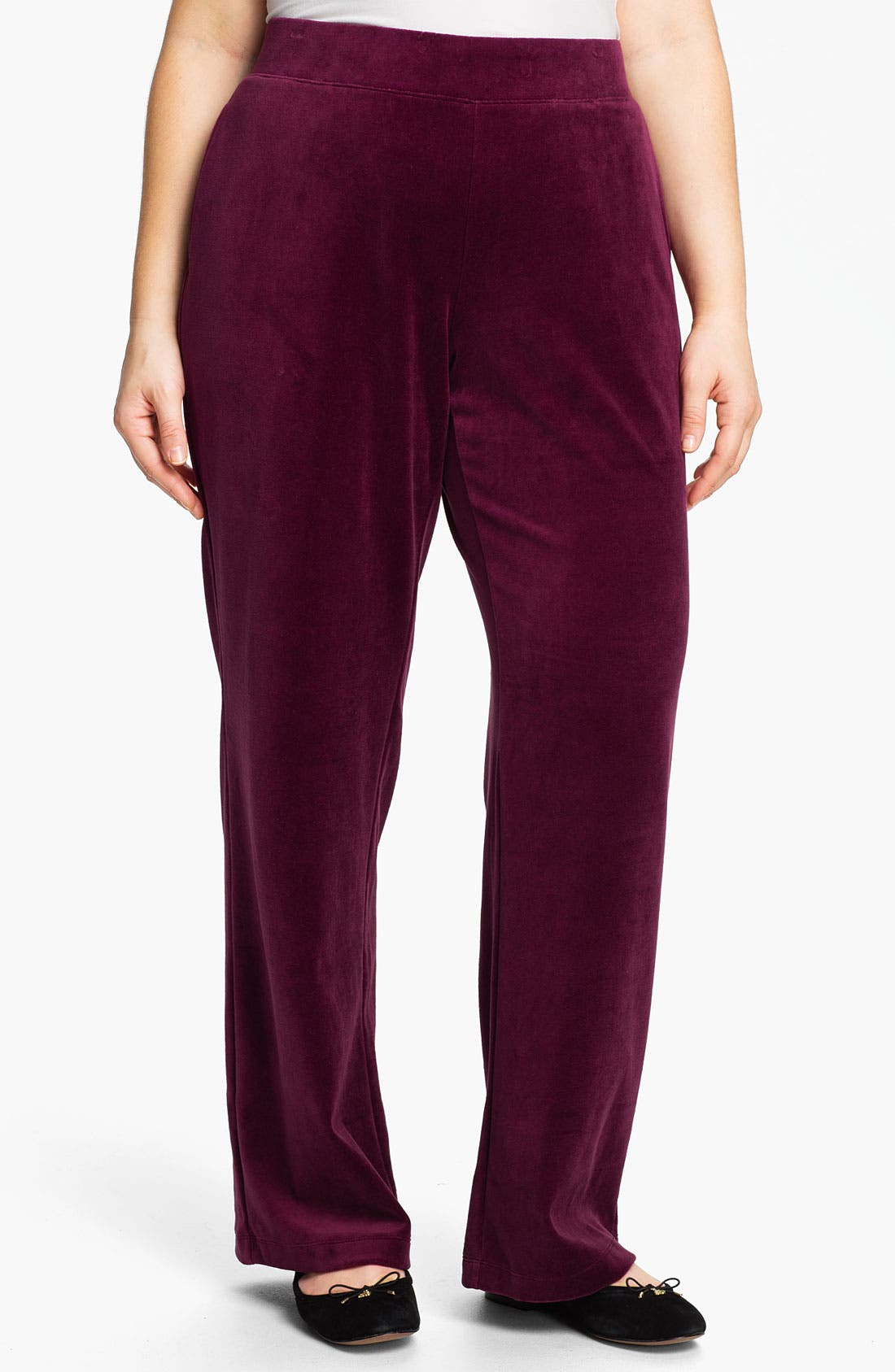 Main Image - Sejour Weekend Velour Pants (Plus)