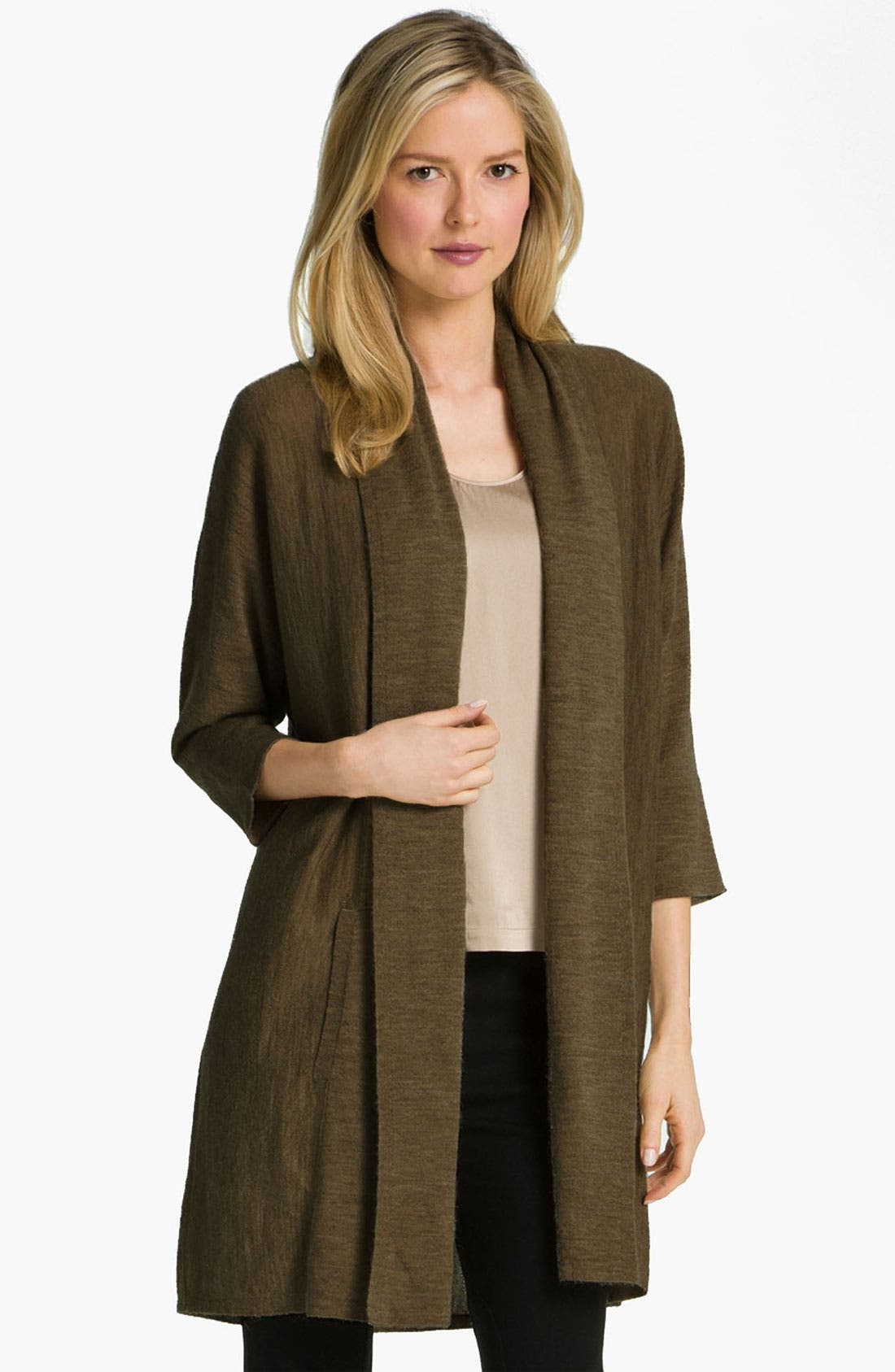 Alternate Image 1 Selected - Eileen Fisher Royal Alpaca Long Cardigan