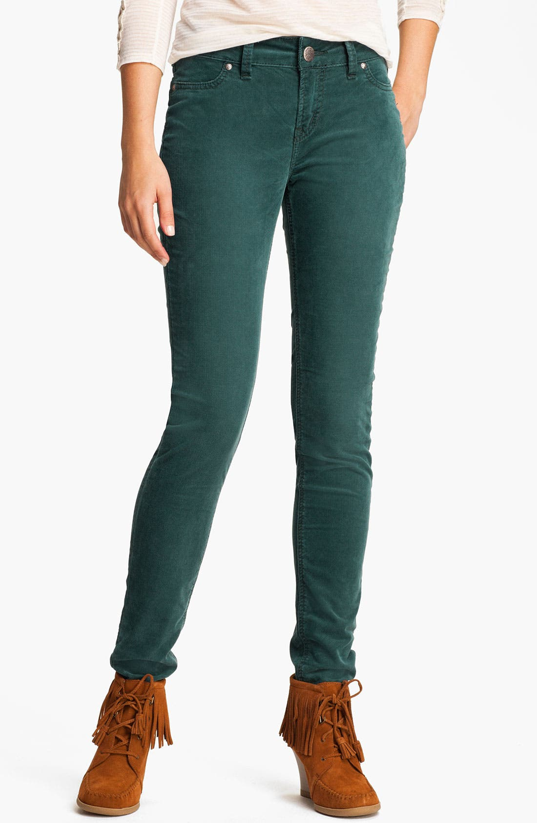 Alternate Image 1 Selected - Silver Jeans Co. 'Suki' Skinny Corduroy Pants (Juniors)