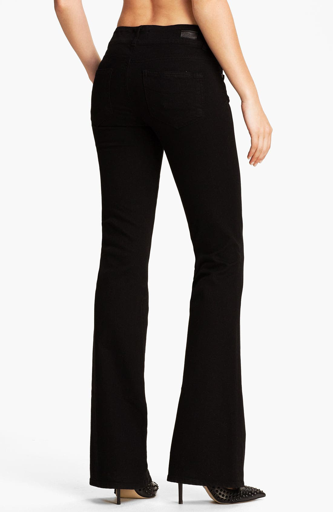 Alternate Image 2  - Paige Denim 'Hidden Hills' Bootcut Stretch Jeans (Jet Black)