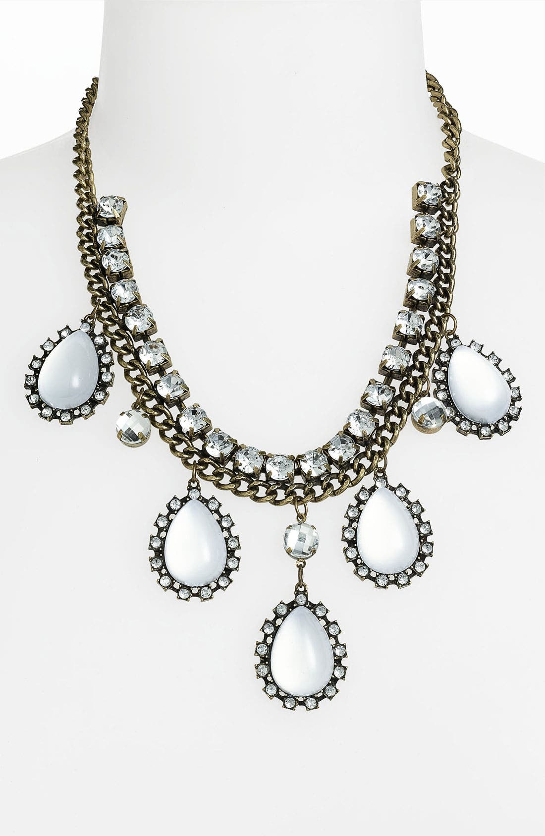Main Image - Panacea Antique Gold & Crystal Necklace