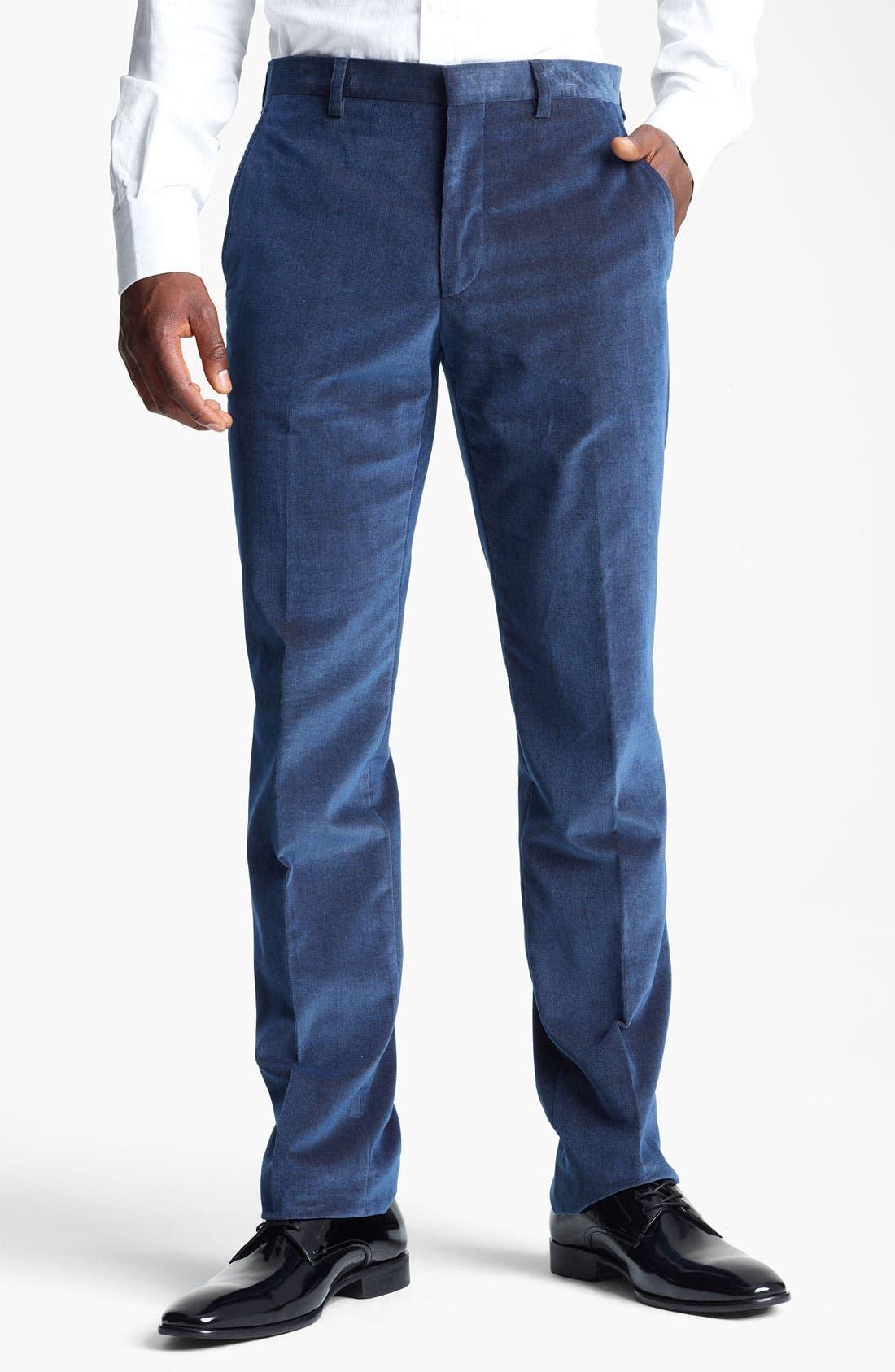 Alternate Image 1 Selected - Etro Slim Fit Corduroy Pants
