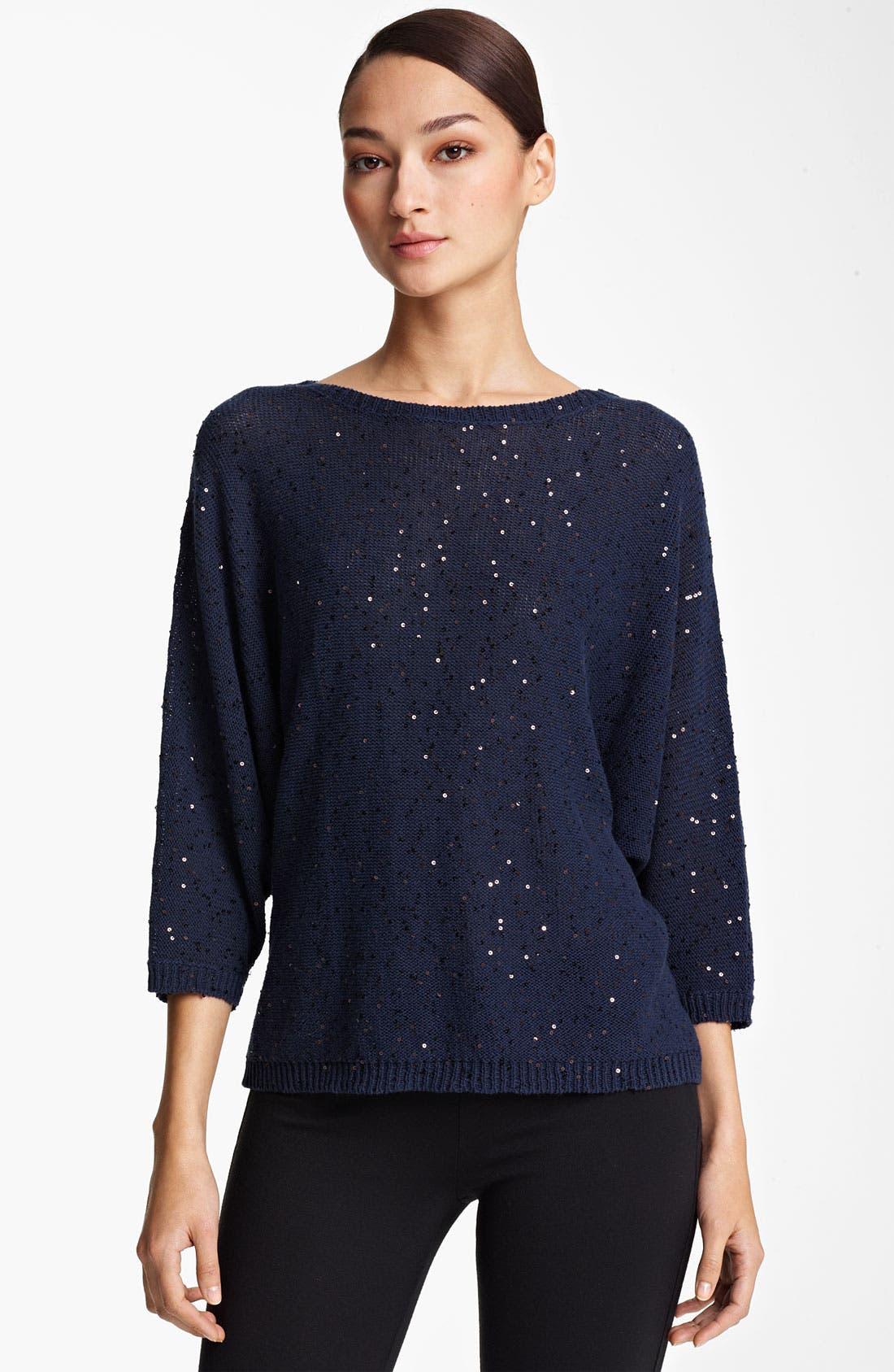 Alternate Image 1 Selected - Fabiana Filippi Paillette Crochet Knit Top