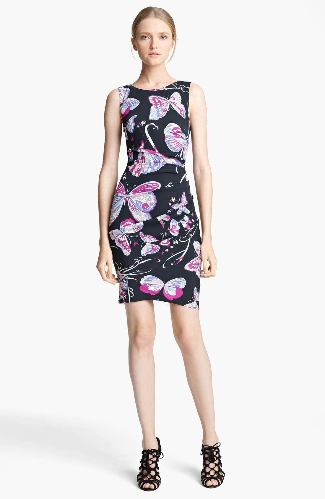Main Image - Emilio Pucci Ruched Double Stretch Georgette Dress