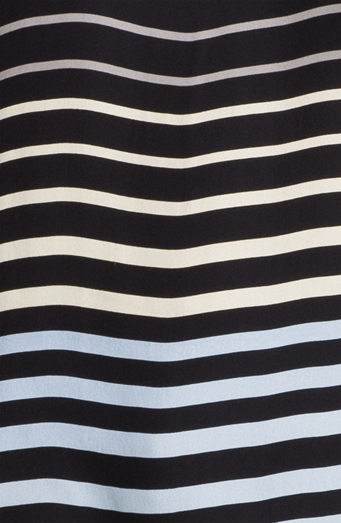 Alternate Image 3  - L'AGENCE Sleeveless Stripe Silk Blouse